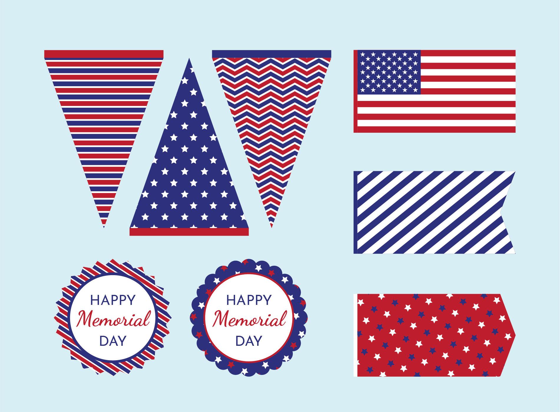Memorial Day Printable Decorations