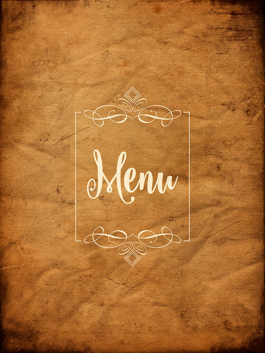 Decorative Grunge Menu Background Download Free Vector