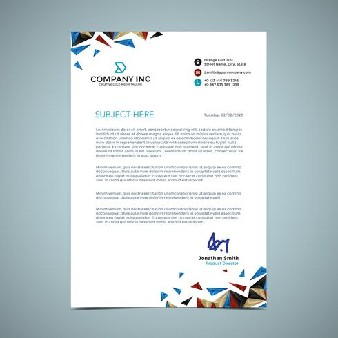 Blue And Gold Letterhead Design Download Free Vector Art Stock Graphics Amp Images