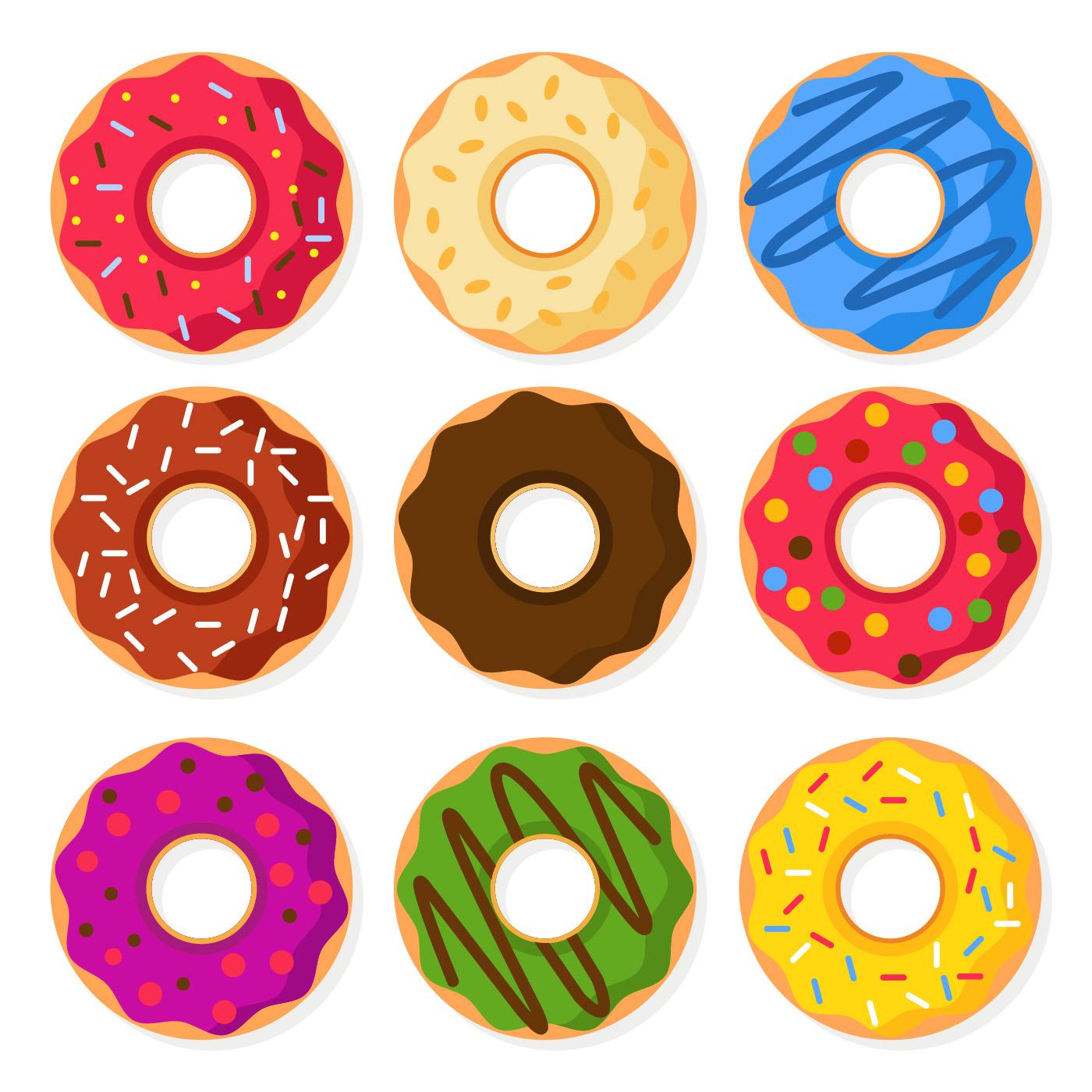 Donuts Vector Illustration Download Free Vectors