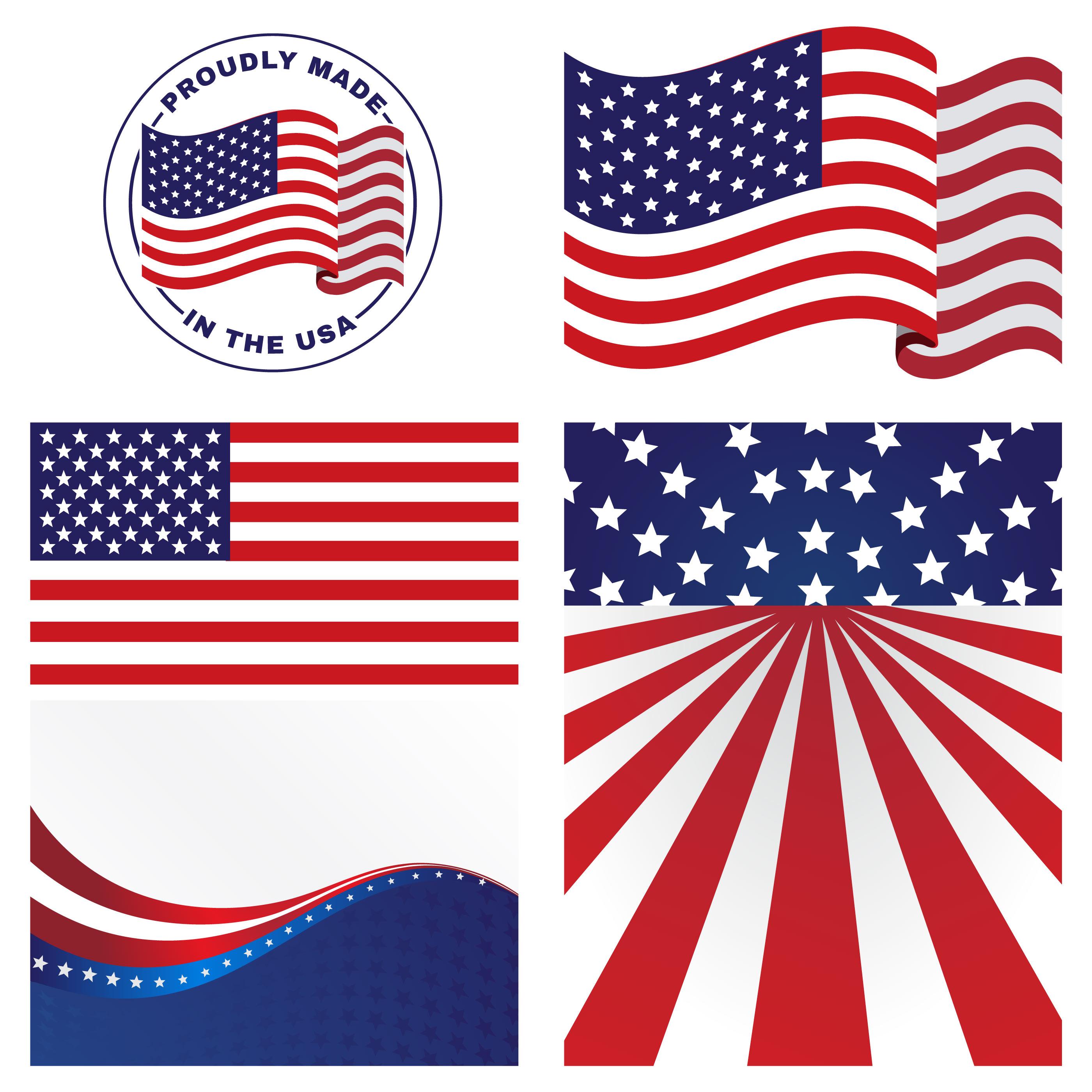 Us Flags Vectors Download Free Vectors Clipart Graphics Vector Art