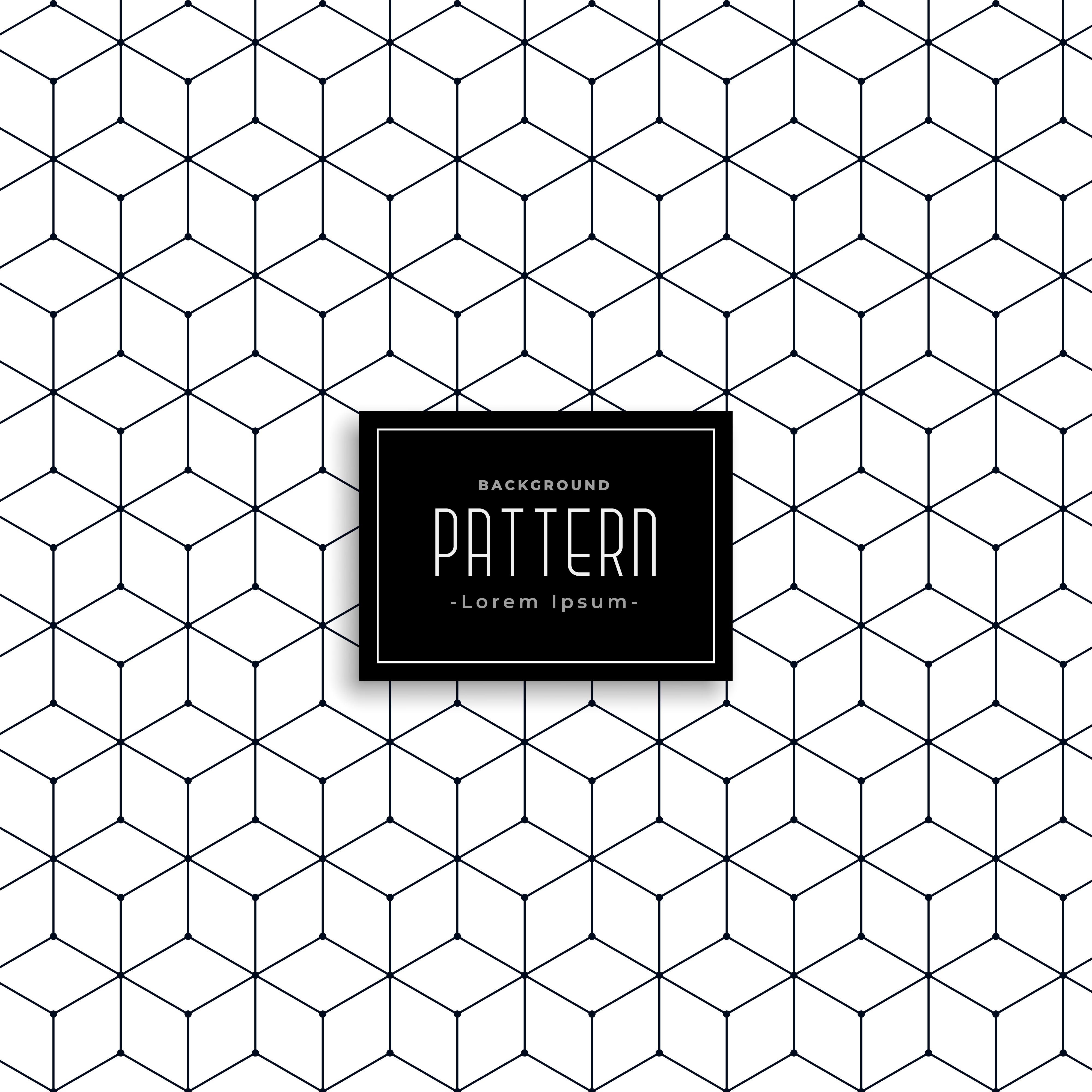 Geometric Pattern Hexagon Free Vector Art