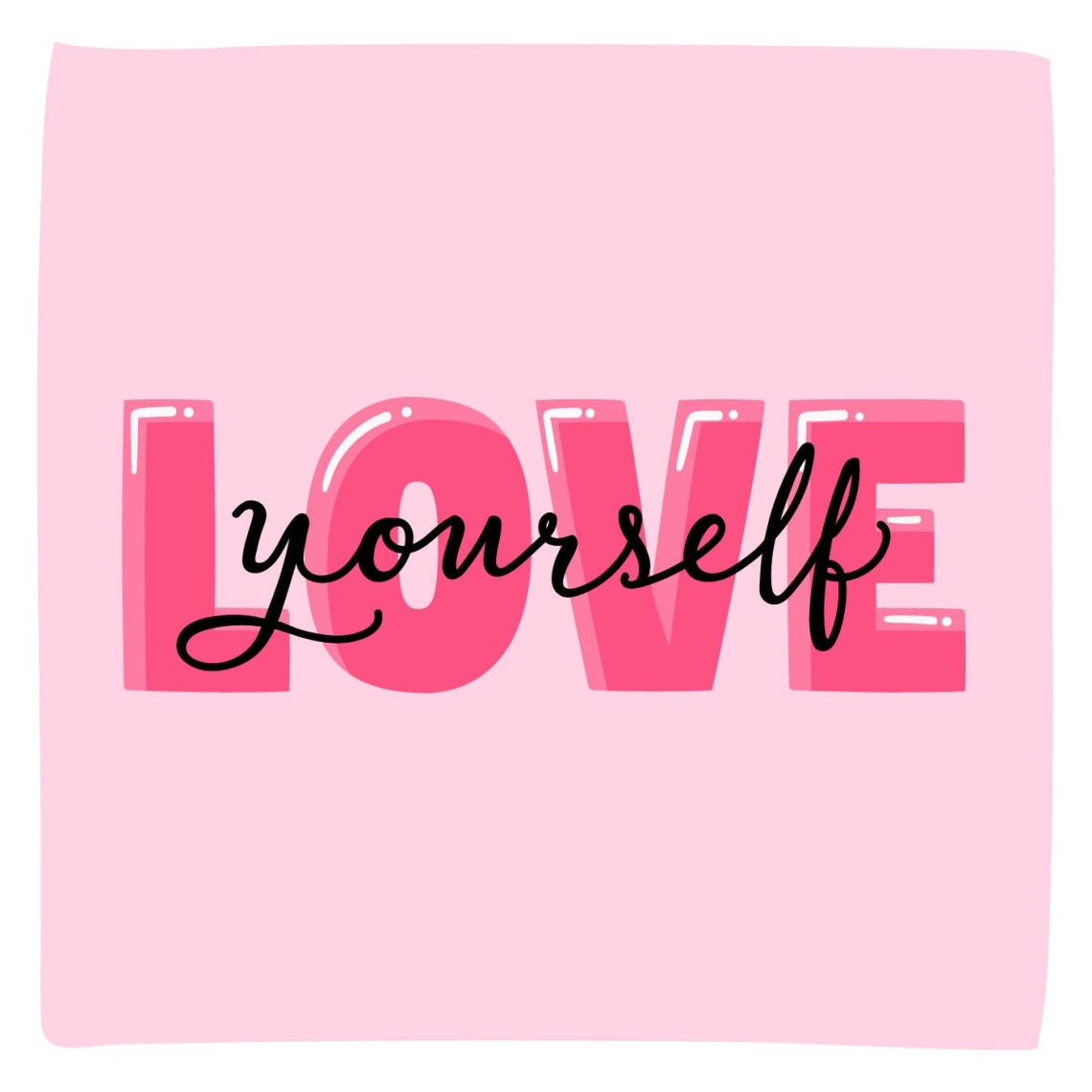 Download Love Yourself Typography Lettering - Download Free Vectors ...
