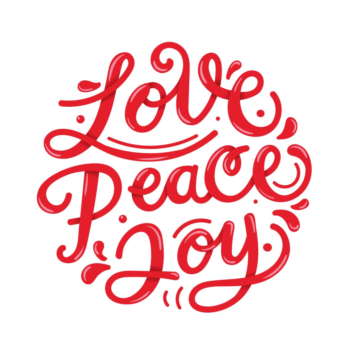Download Peace Love Joy Lettering Typography - Download Free ...