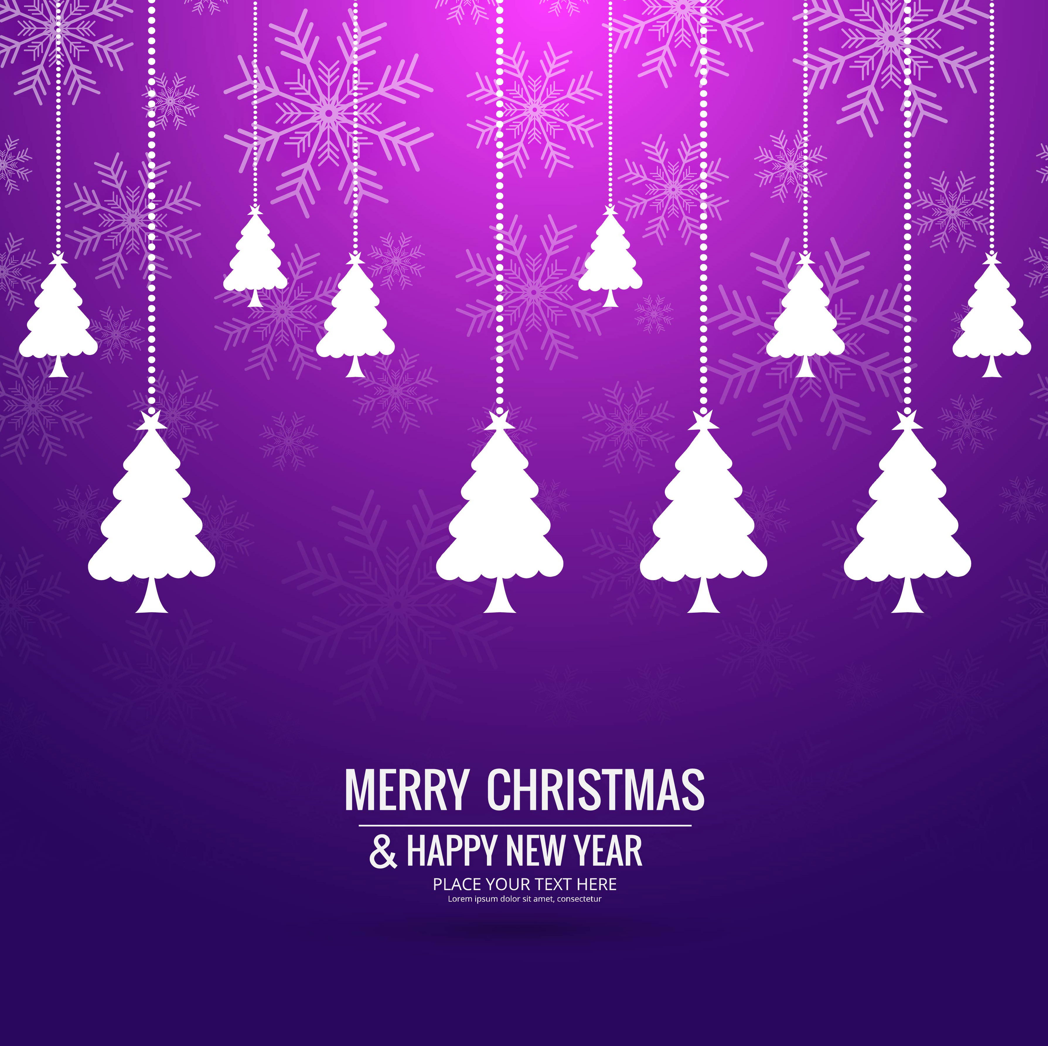 Modern Mery Christmas Background Download Free Vector