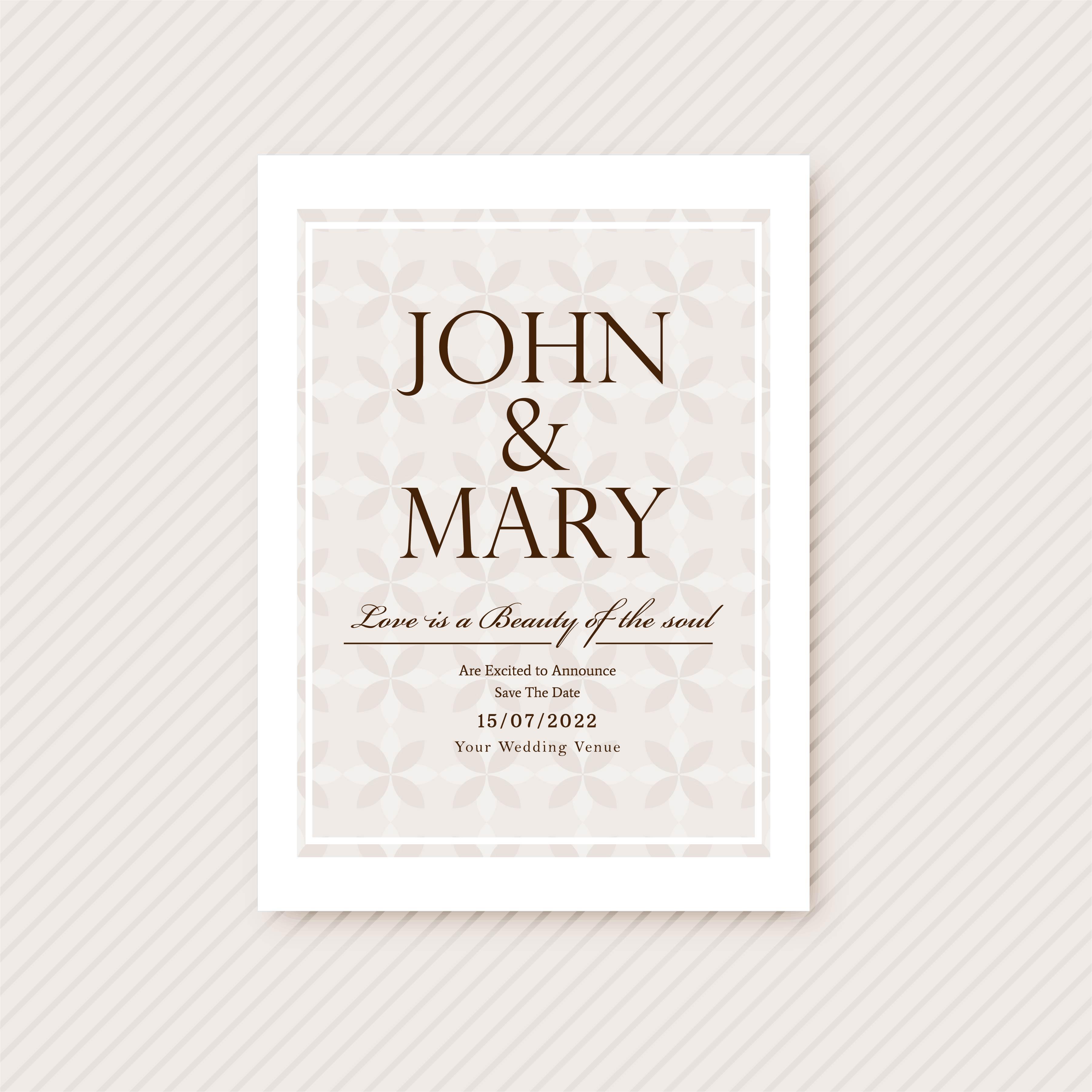 abstract wedding invitation card