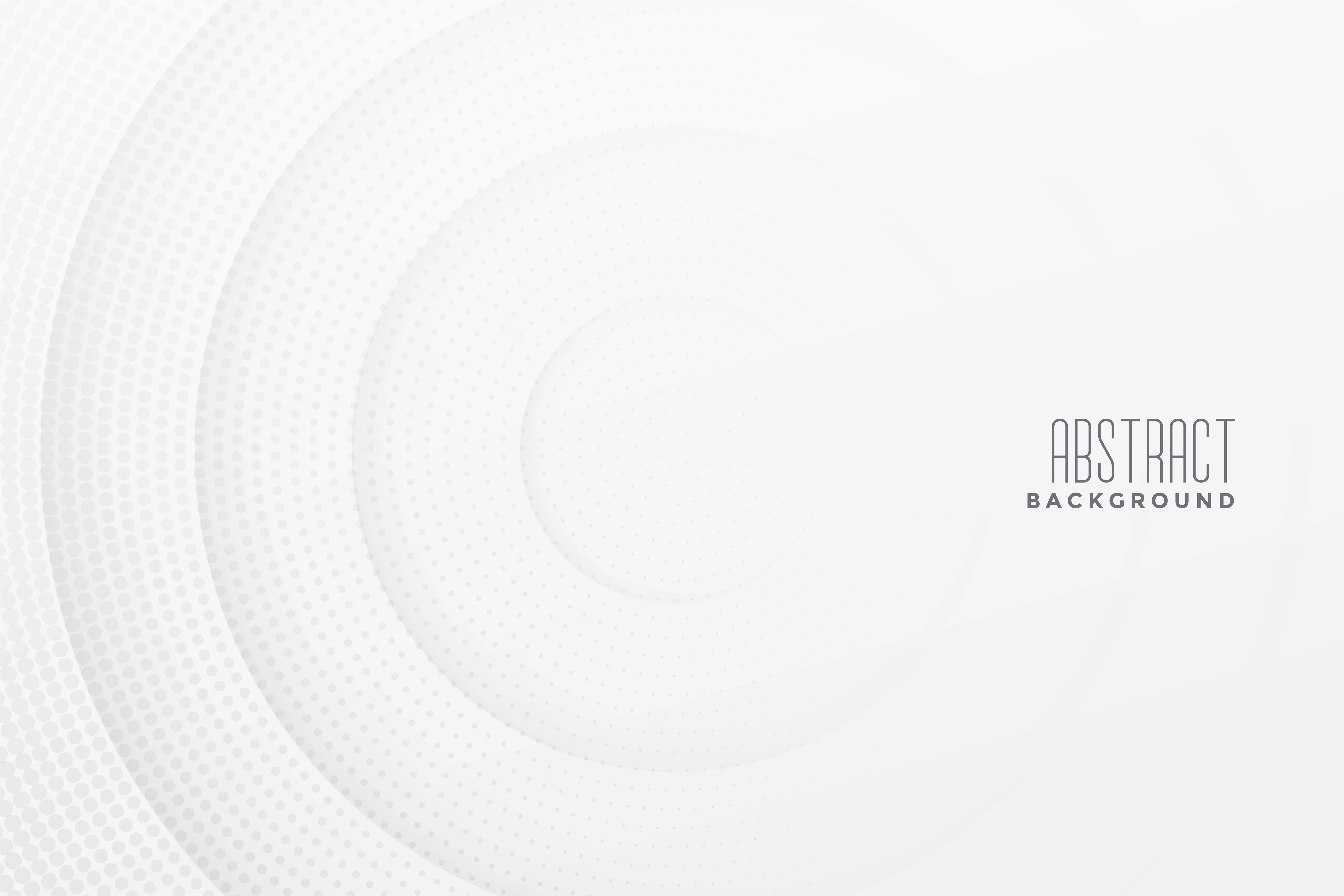 Abstract Halftone White Background Design