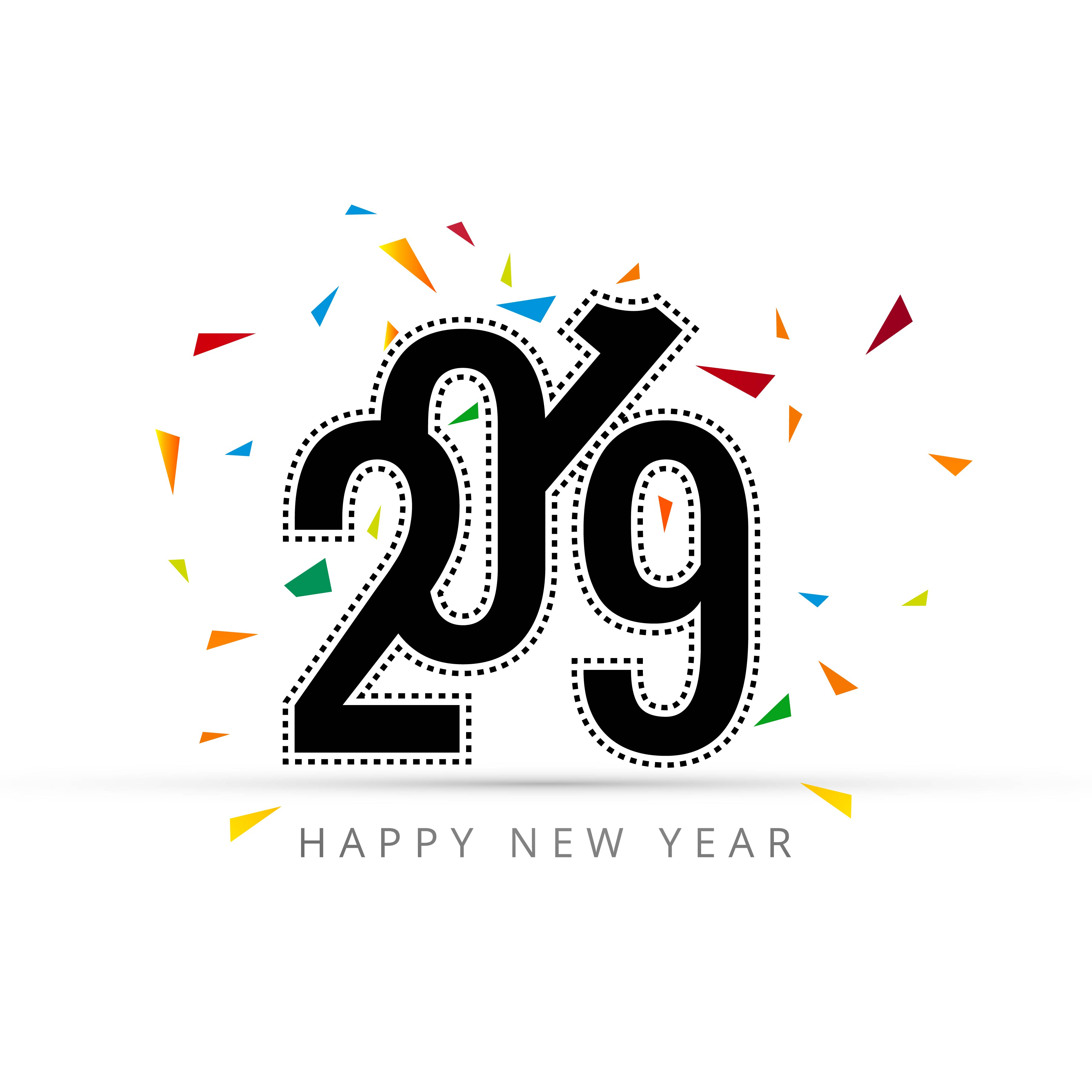 Elegant Happy New Year Card With White Background