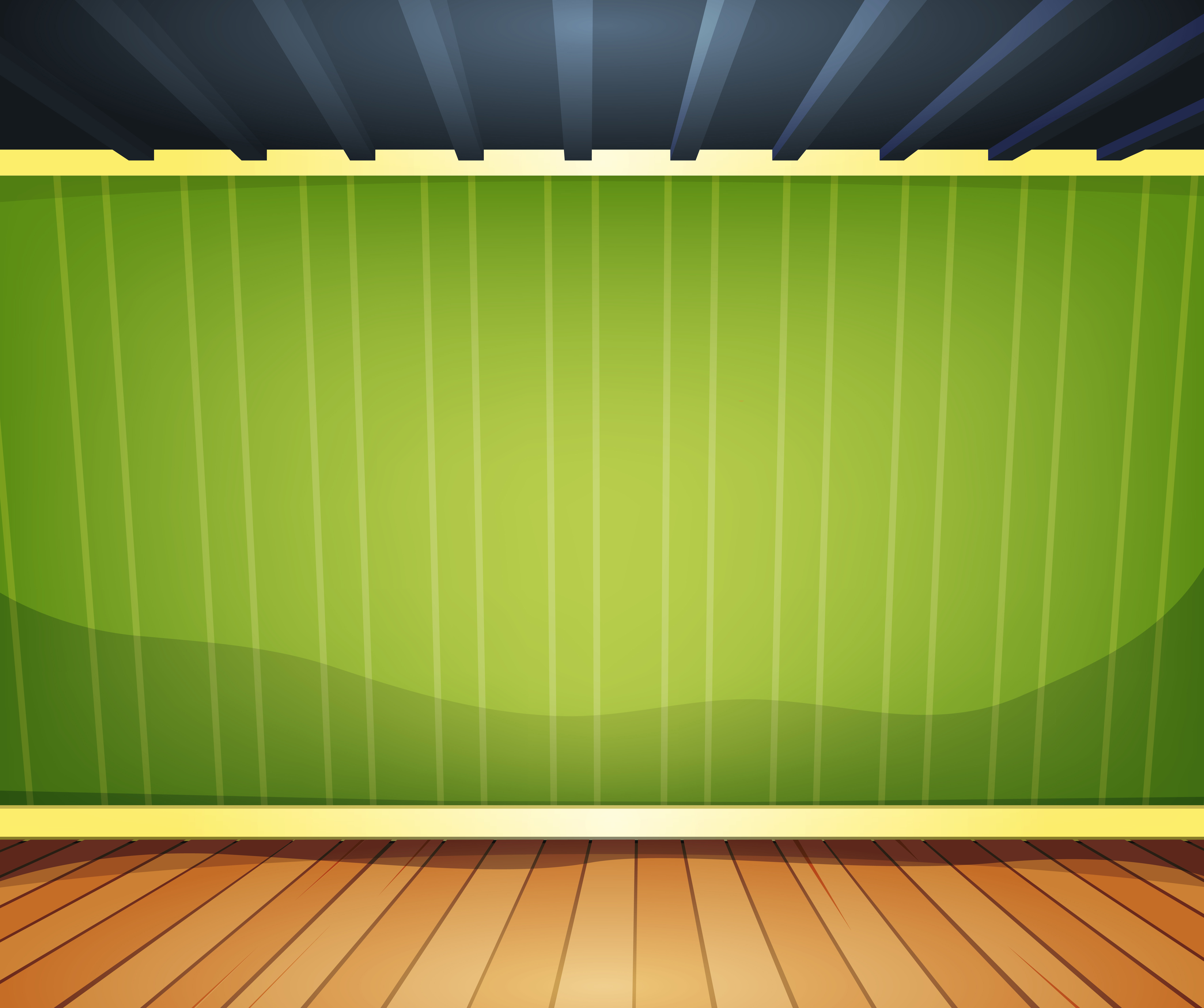 Empty Room With Striped Wallpaper Download Free Vector