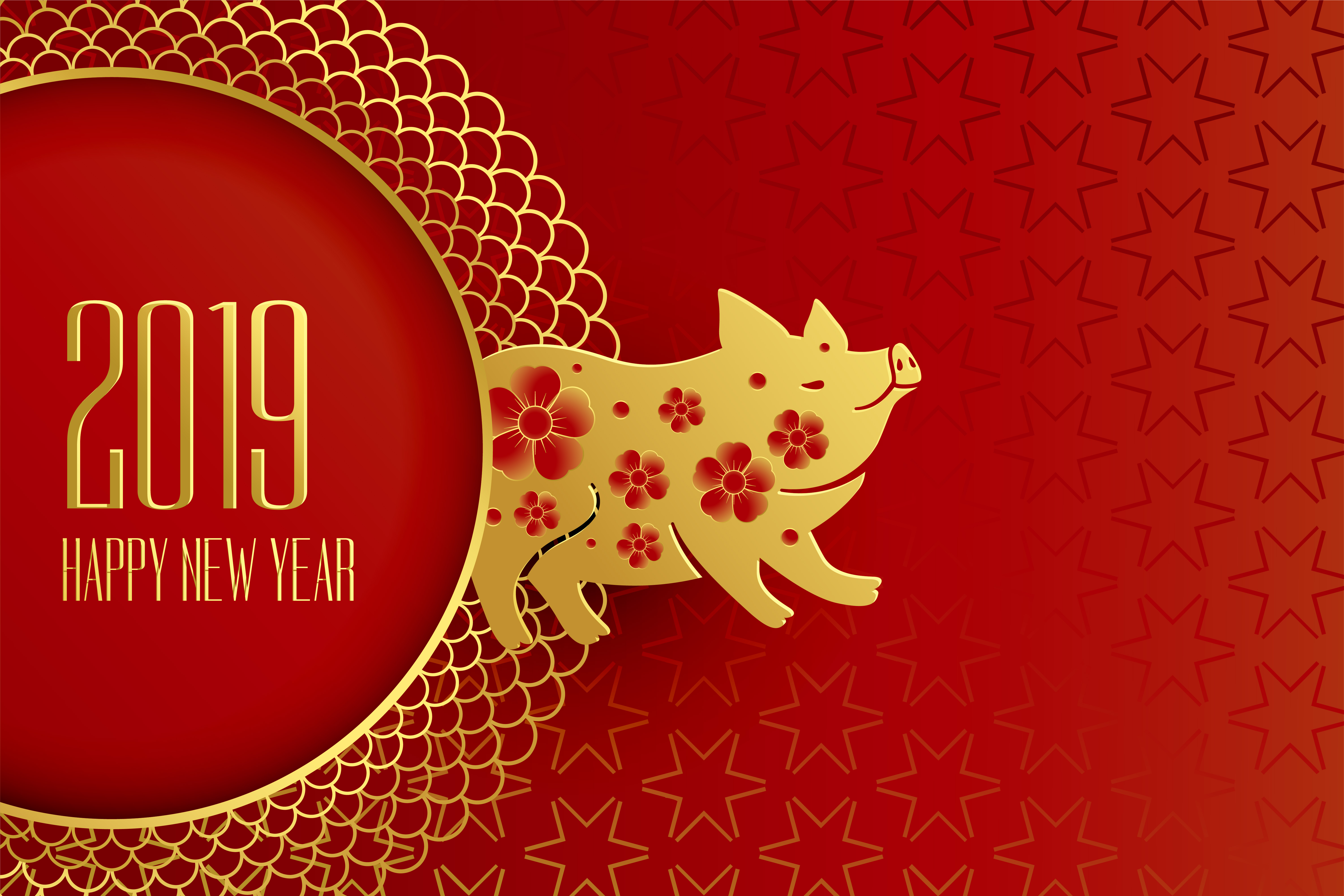 Happy Chinese New Year Of The Pig Design Download Free