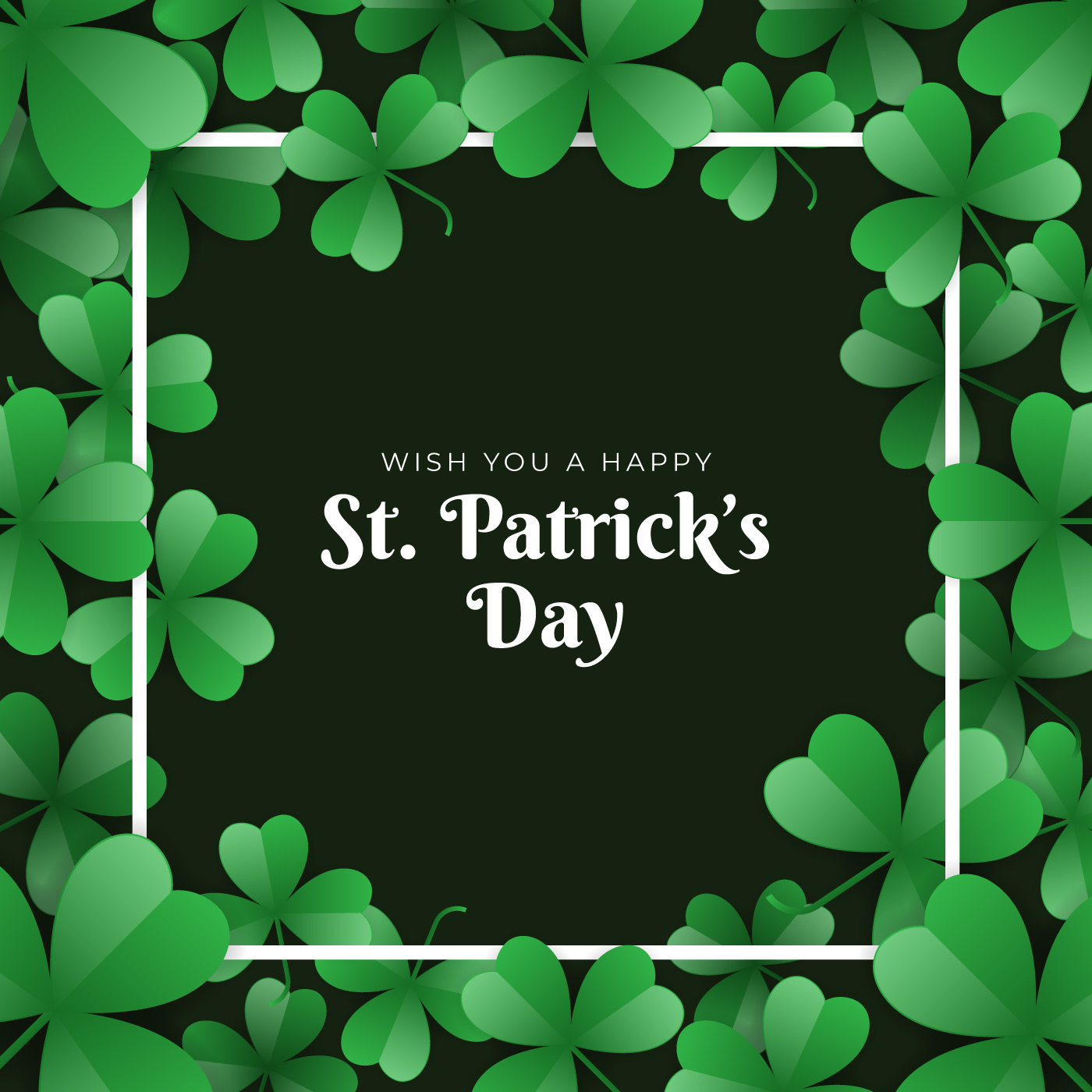 St Patrick S Day Template Design Banner