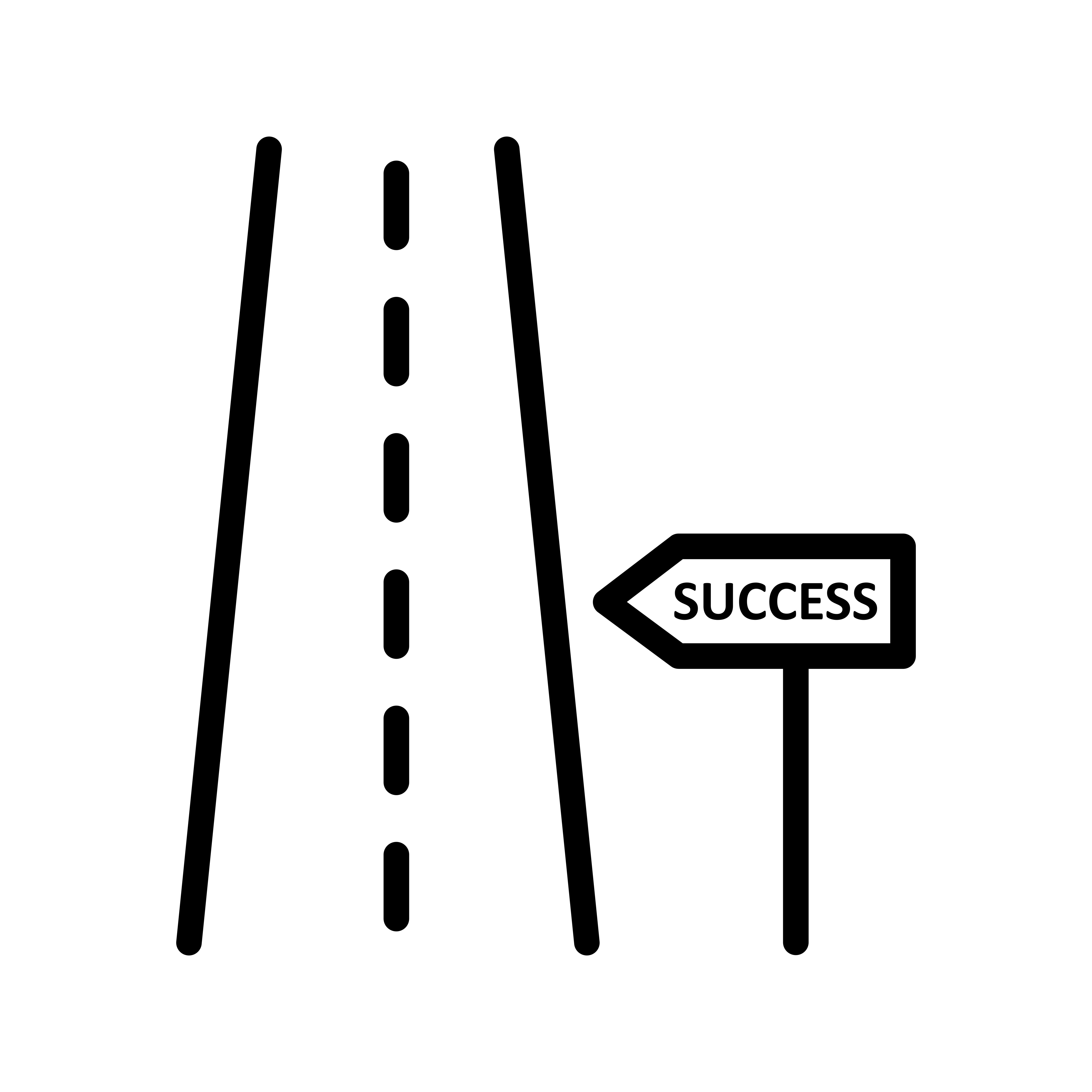 Road To Success Vector Icon