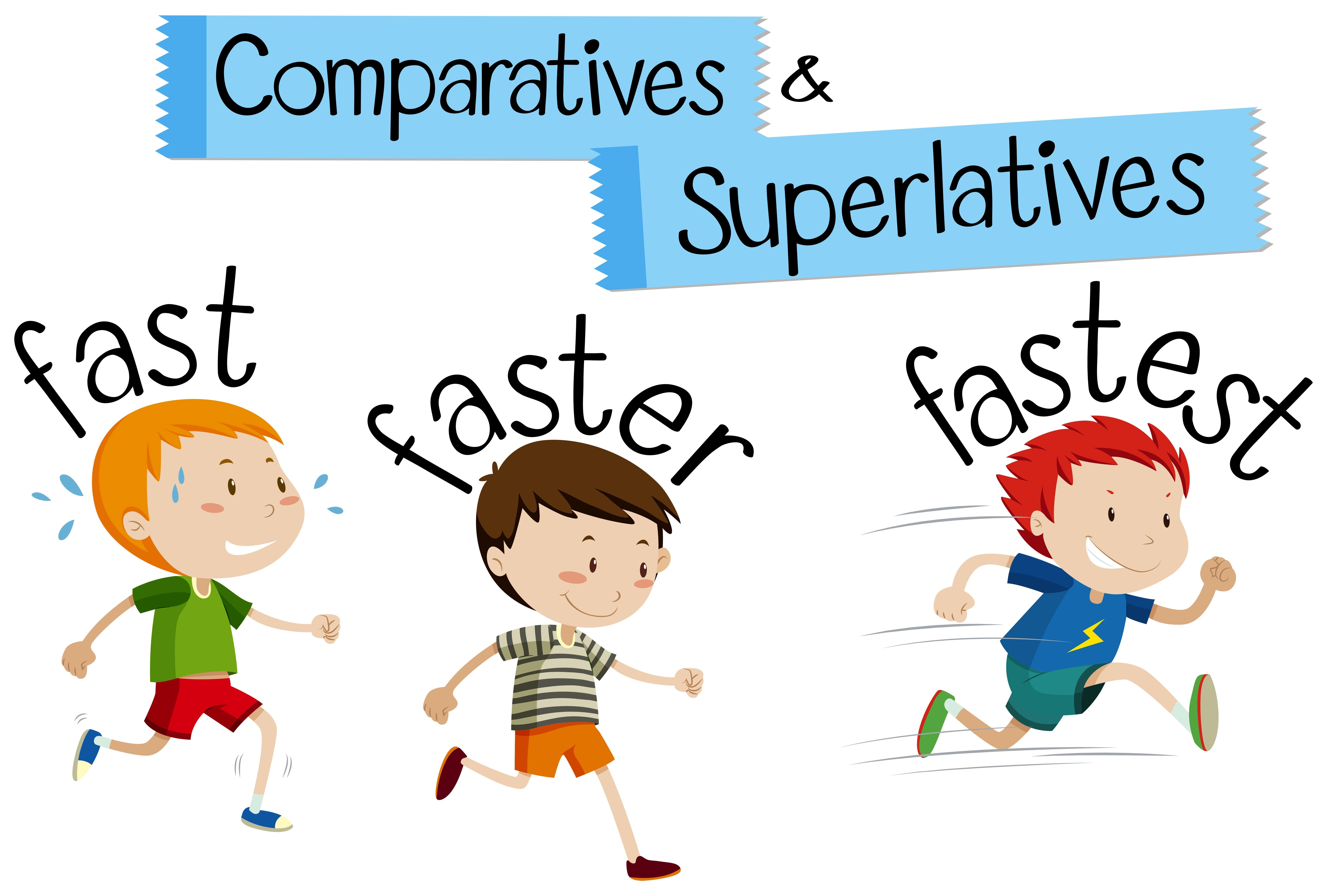 Comparatives And Superlatives Word For Fast
