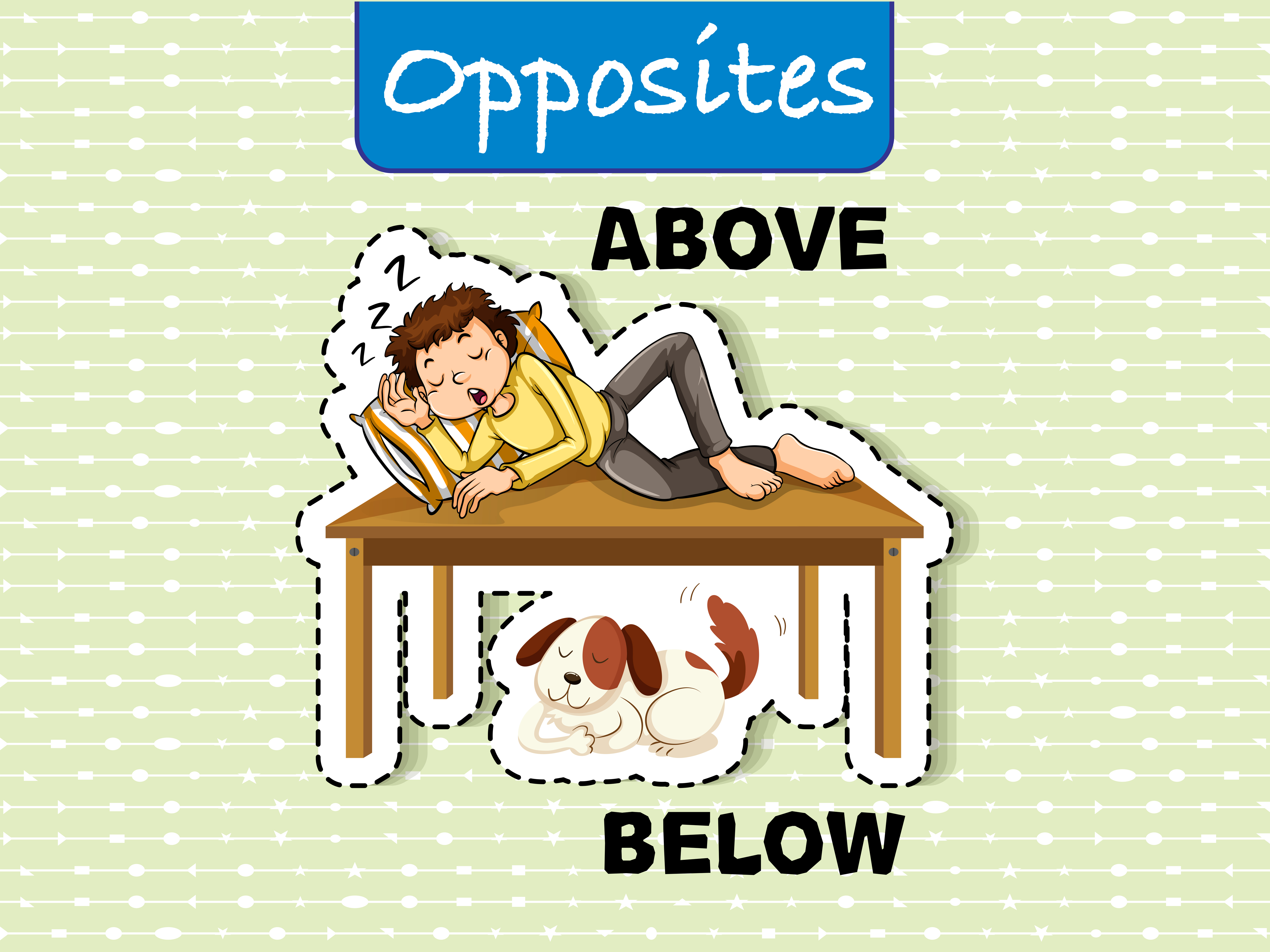 Opposite Words For Above And Below