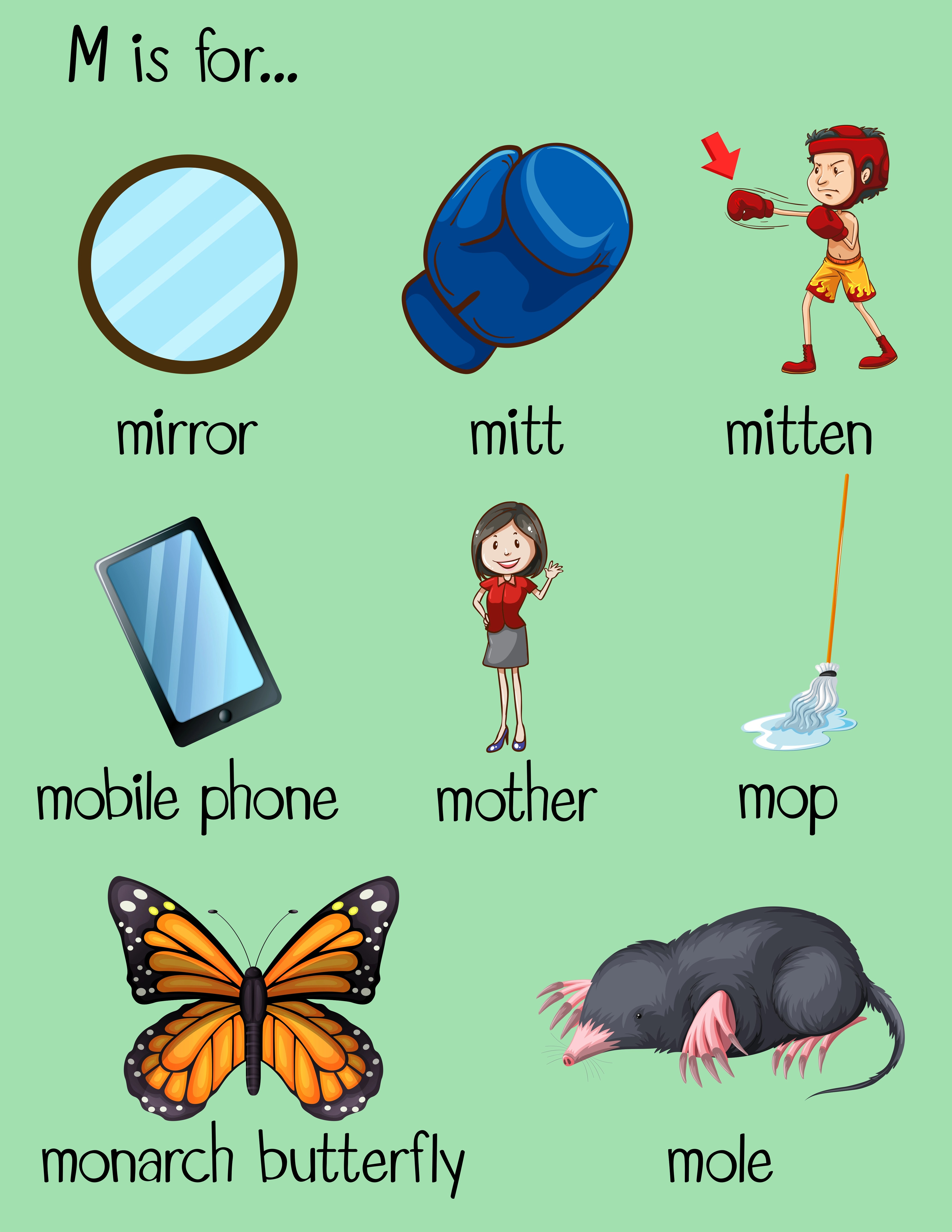 Many Words Begin With Letter M