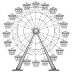 Ferris Wheel Silhouette Free Vector Art 27 Free Downloads