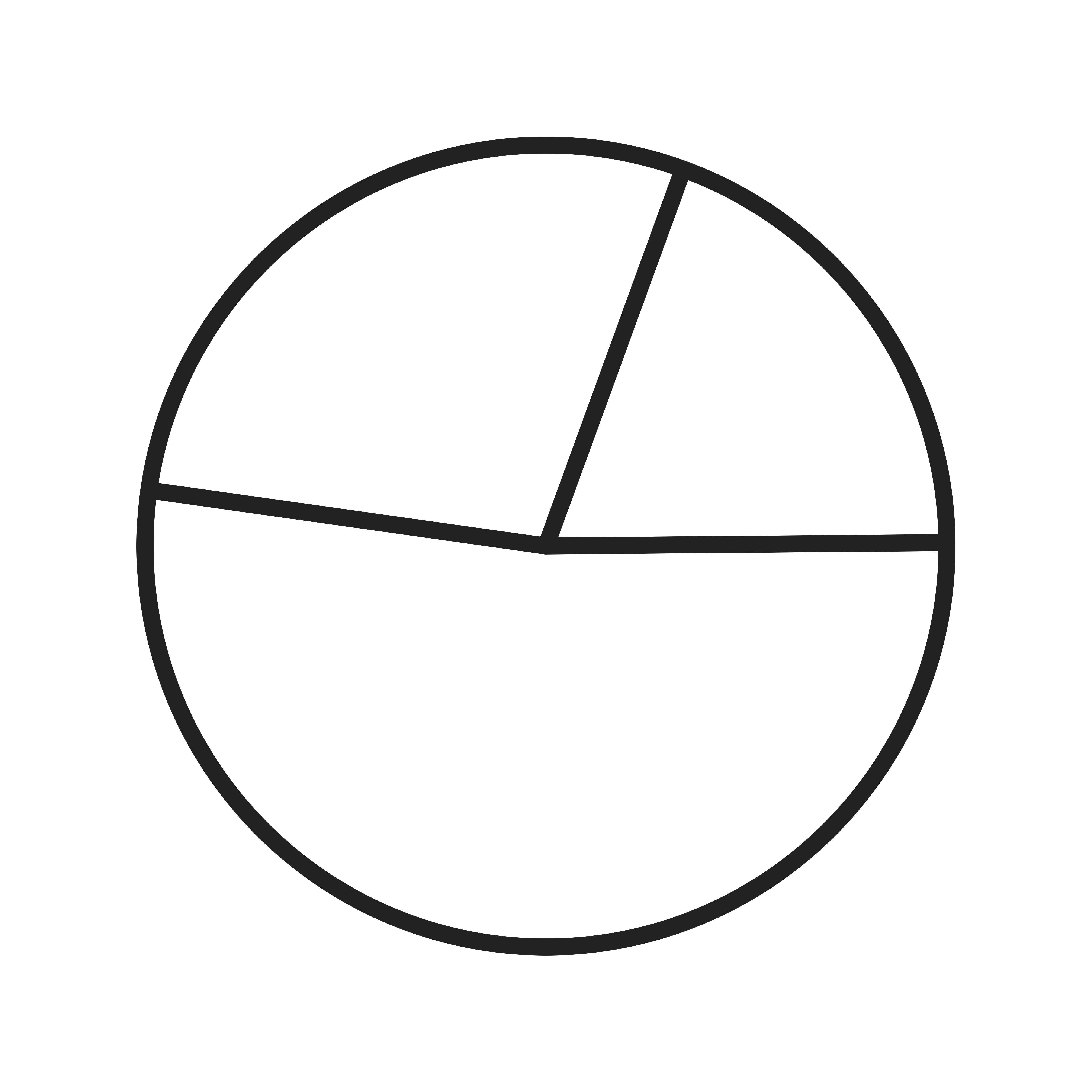 Pie Chart Line Black Icon
