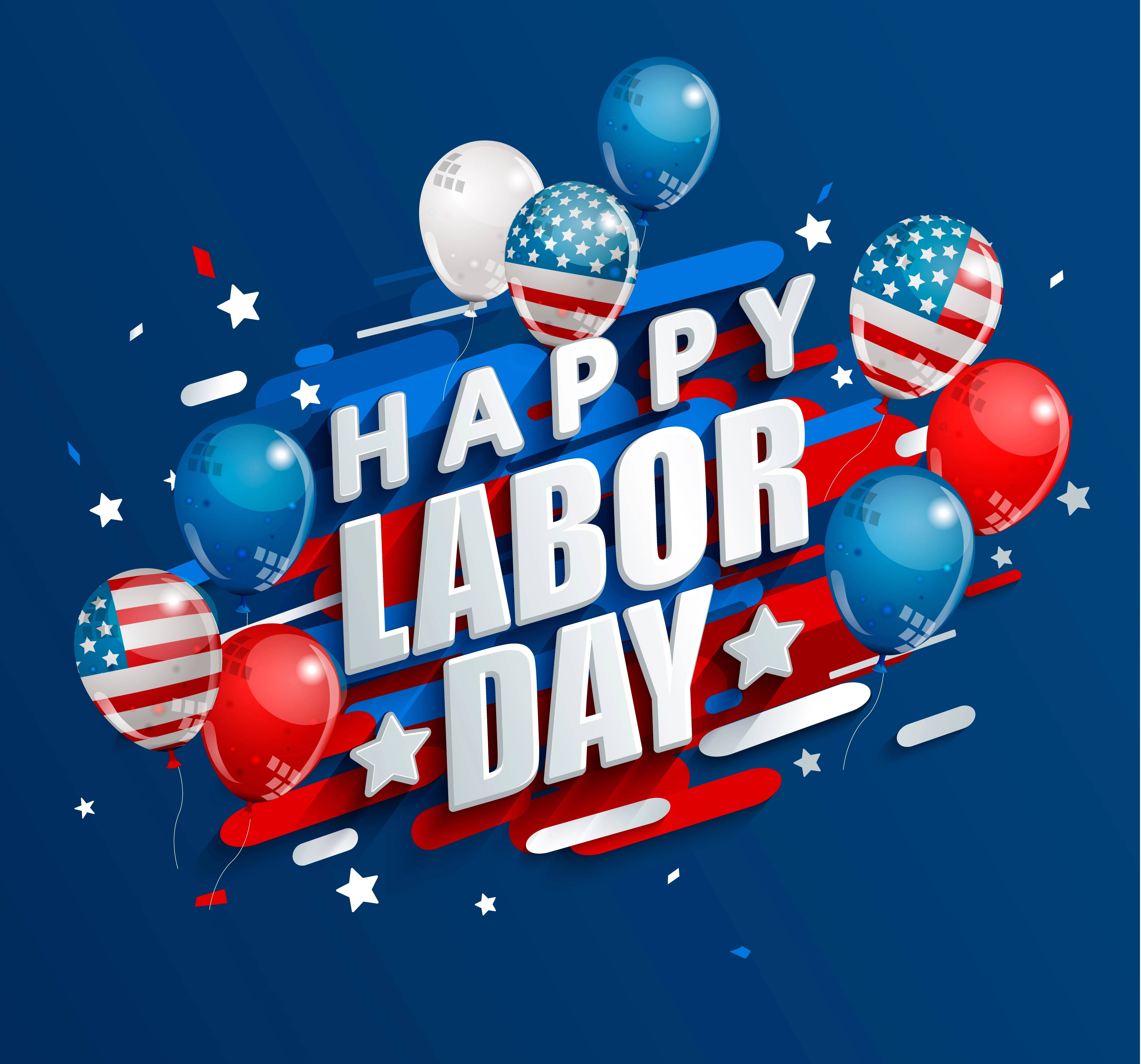 Happy Labor Day Holiday Banner