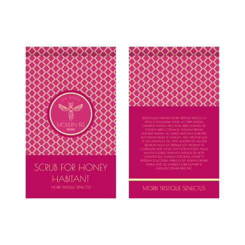 Scrub For Honey Zip Package Template Download Free Vectors