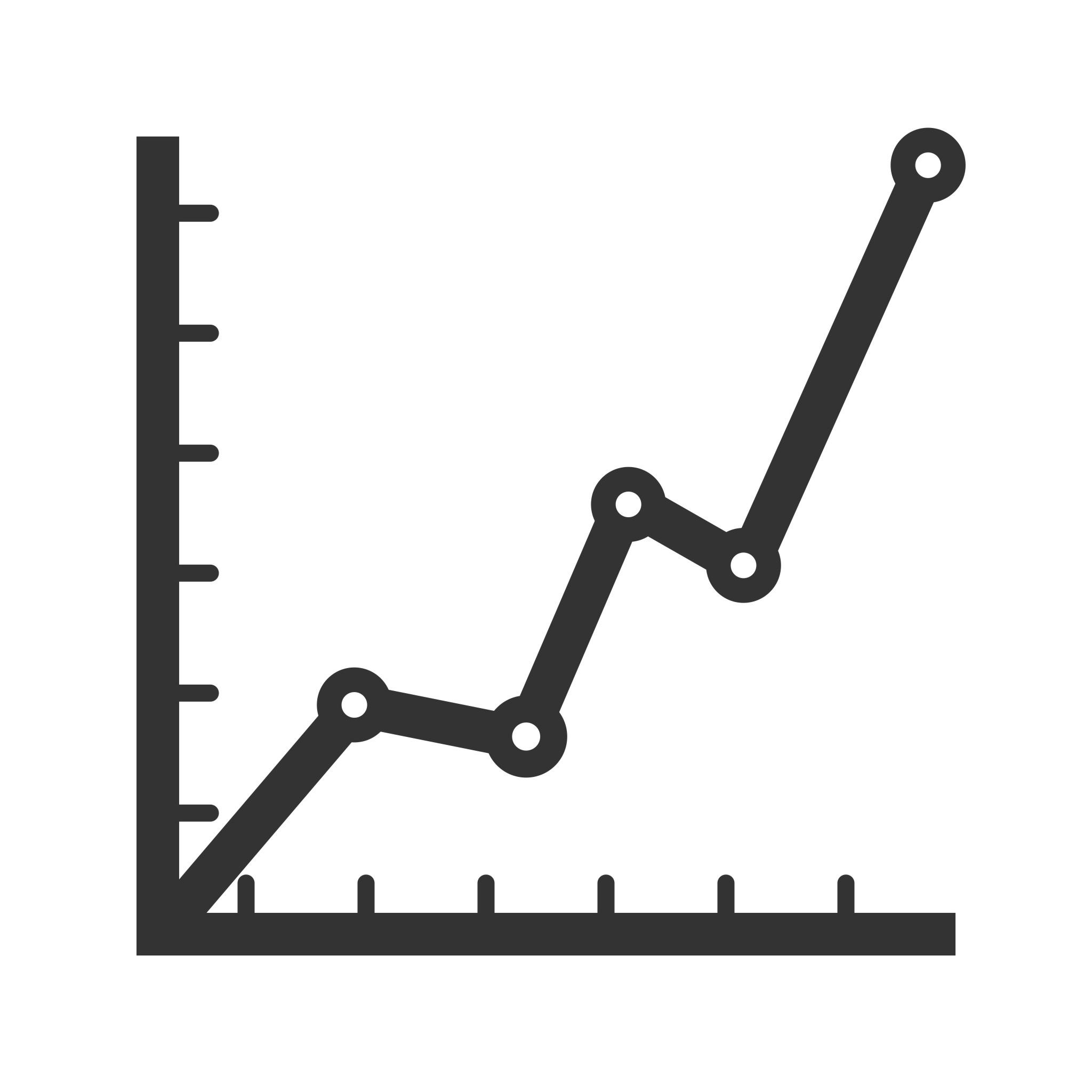 Statistics Glyph Icon