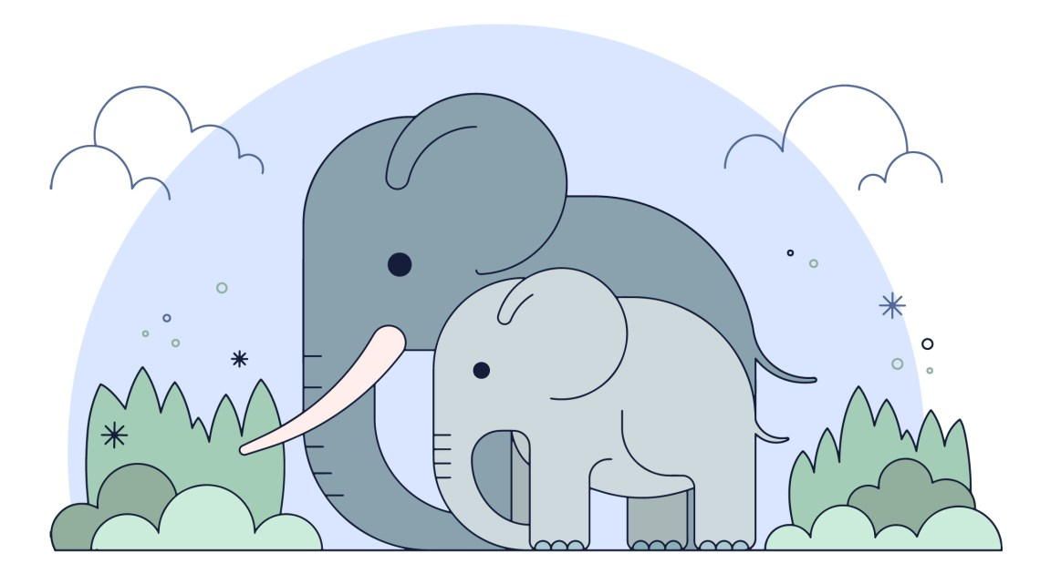 Download Elephant Family Free Vector Art - (48 Free Downloads)