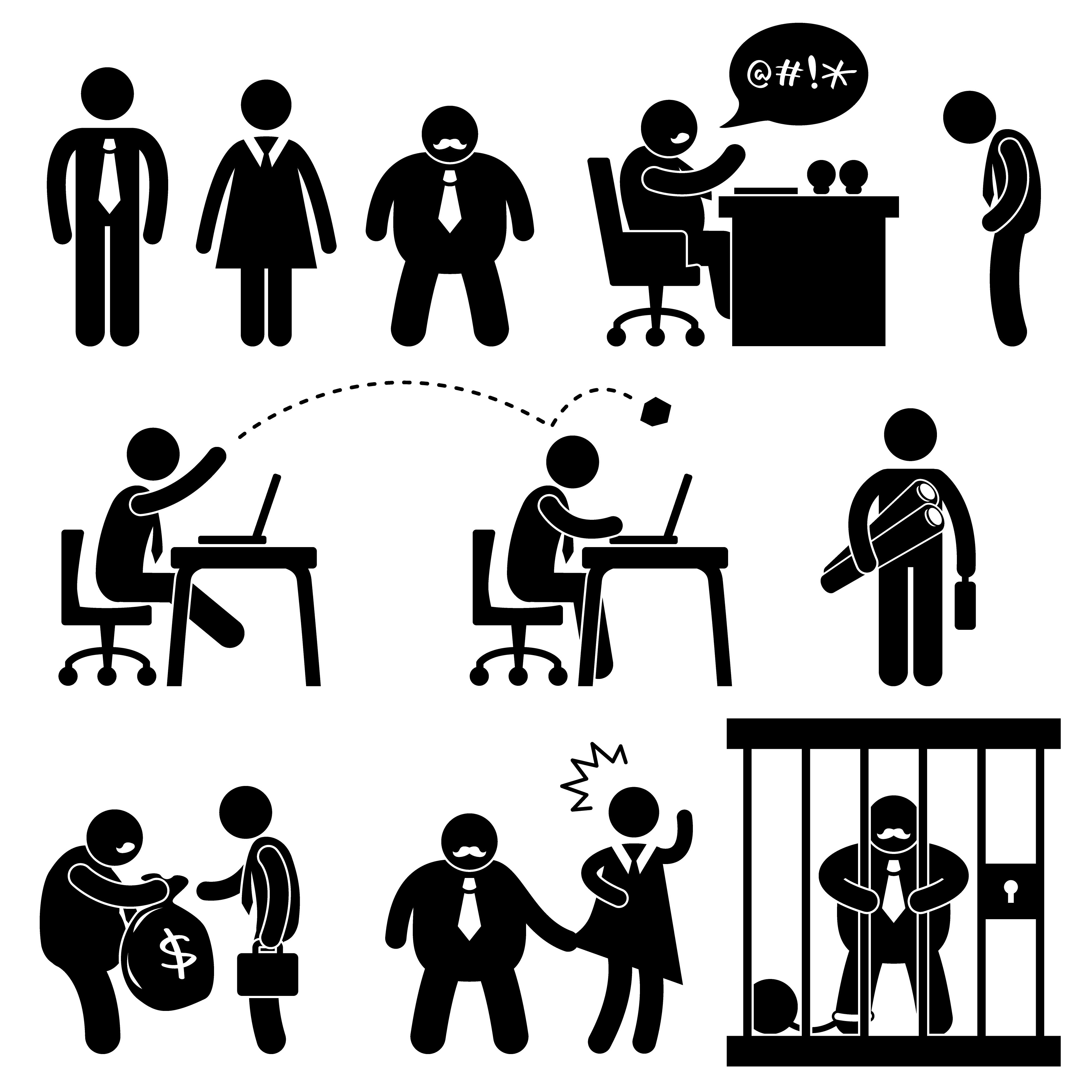 Business Office Workplace Situation Boss Manager Icon