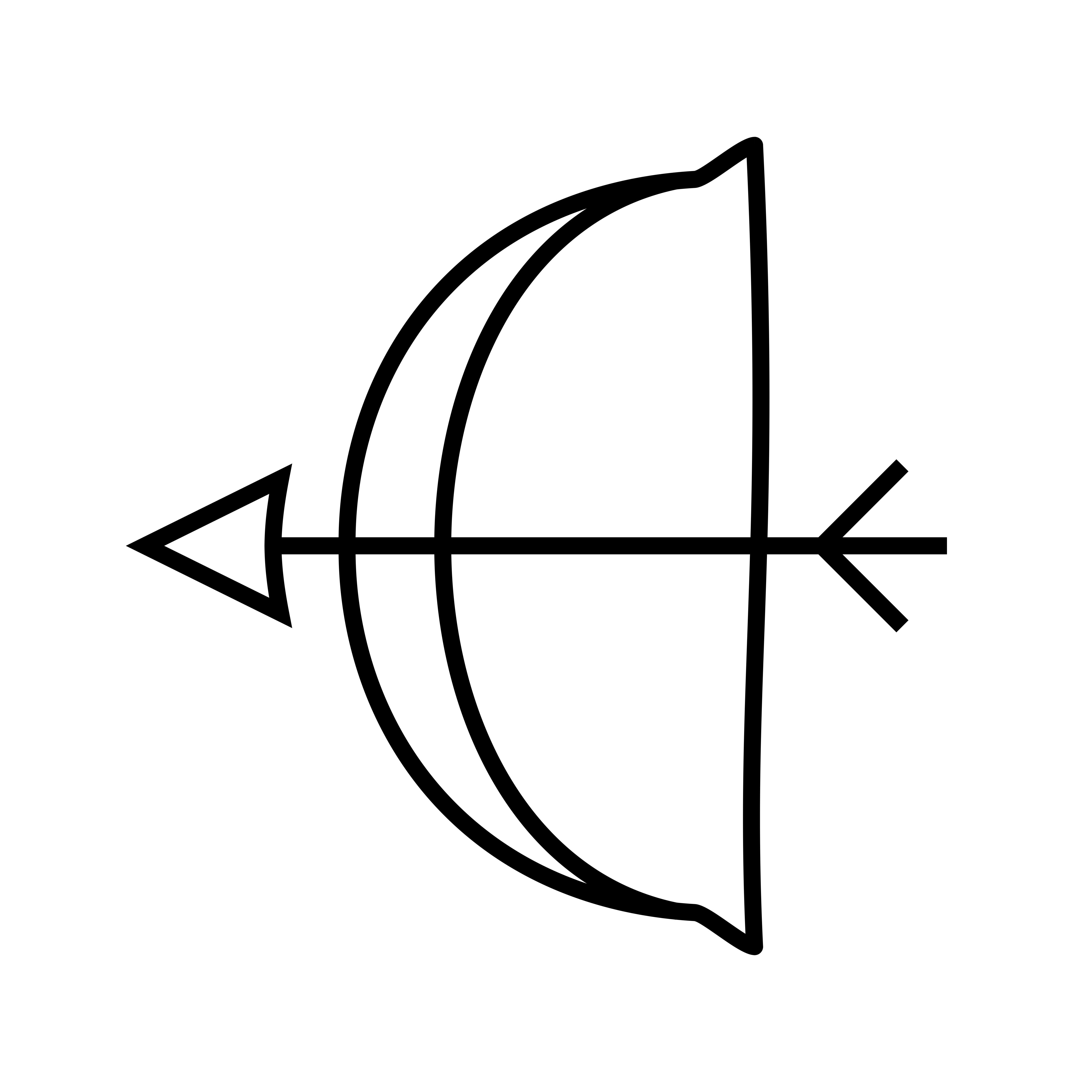 Archery Line Black Icon