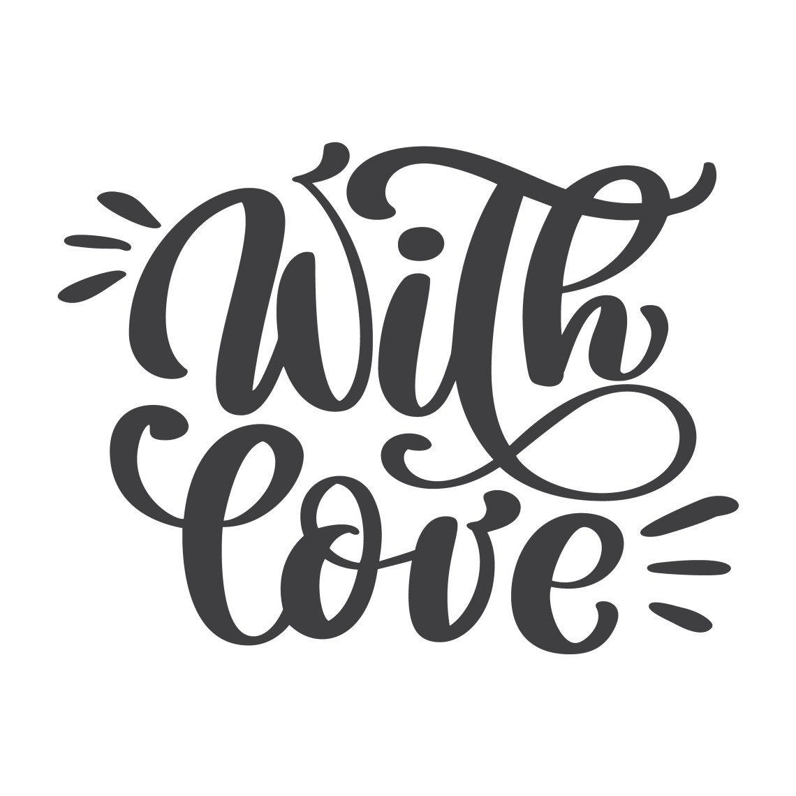 Download With love hand lettering. Handmade calligraphy Vintage ...