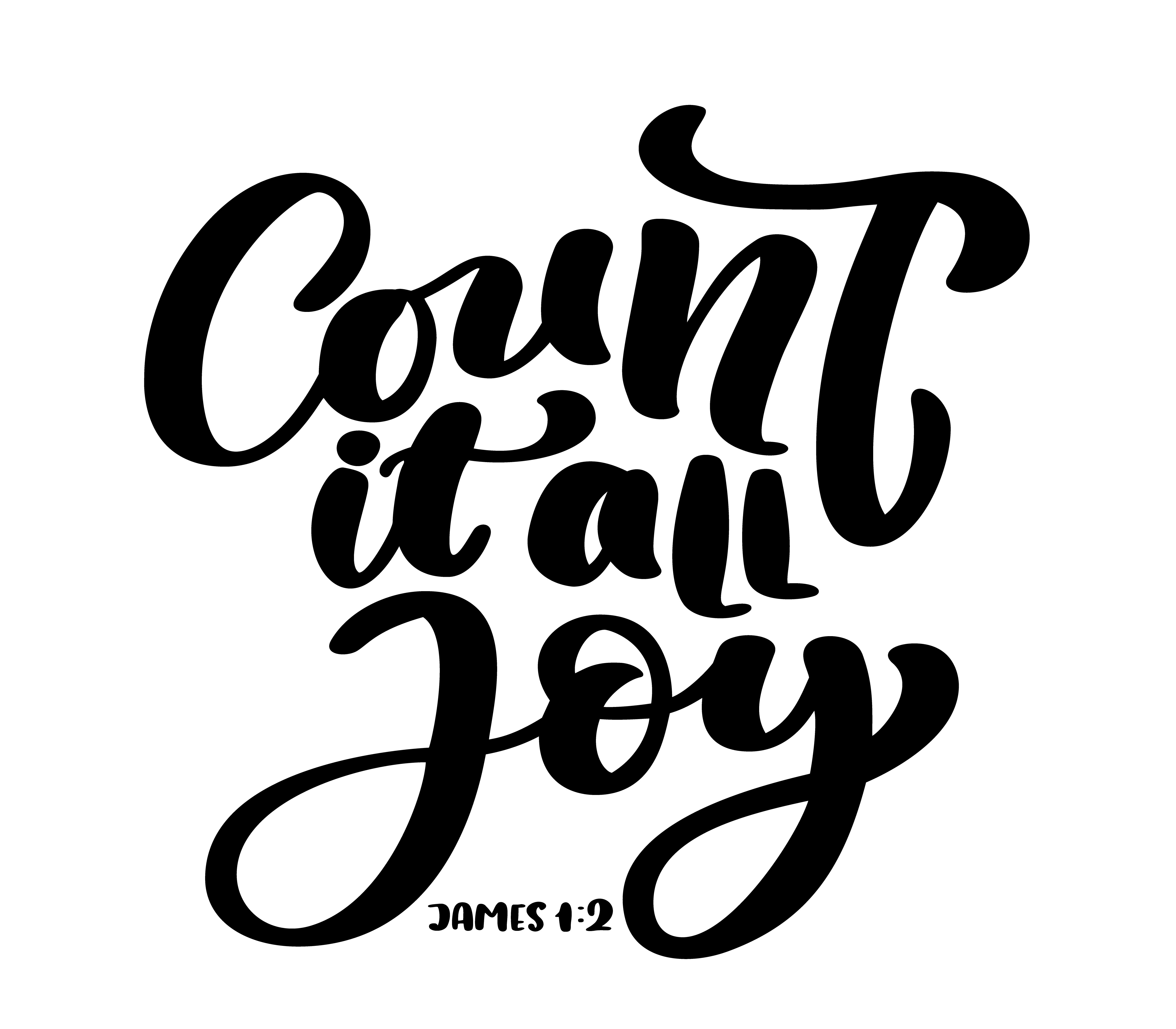 Hand Lettering Count It All Joy James 1 2 Biblical