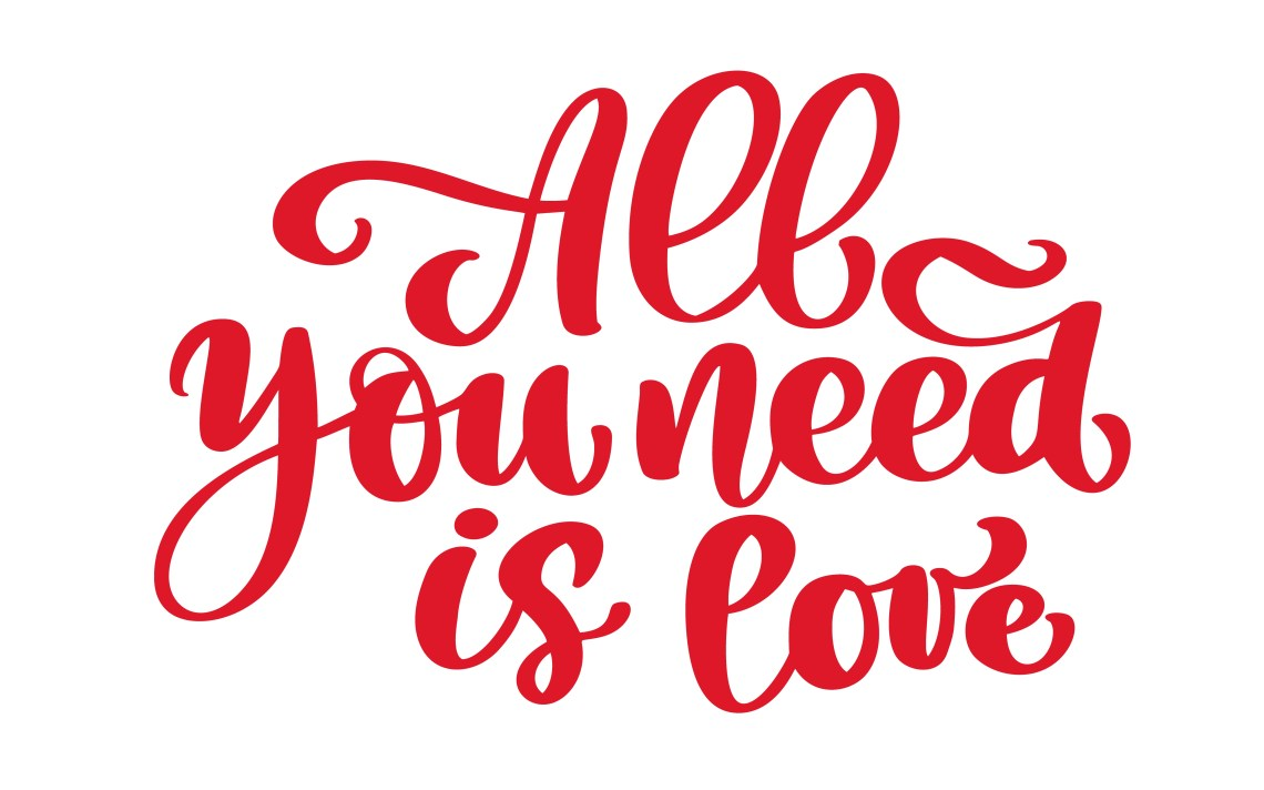 Download Calligraphic All You Need is Love inscription - Download ...