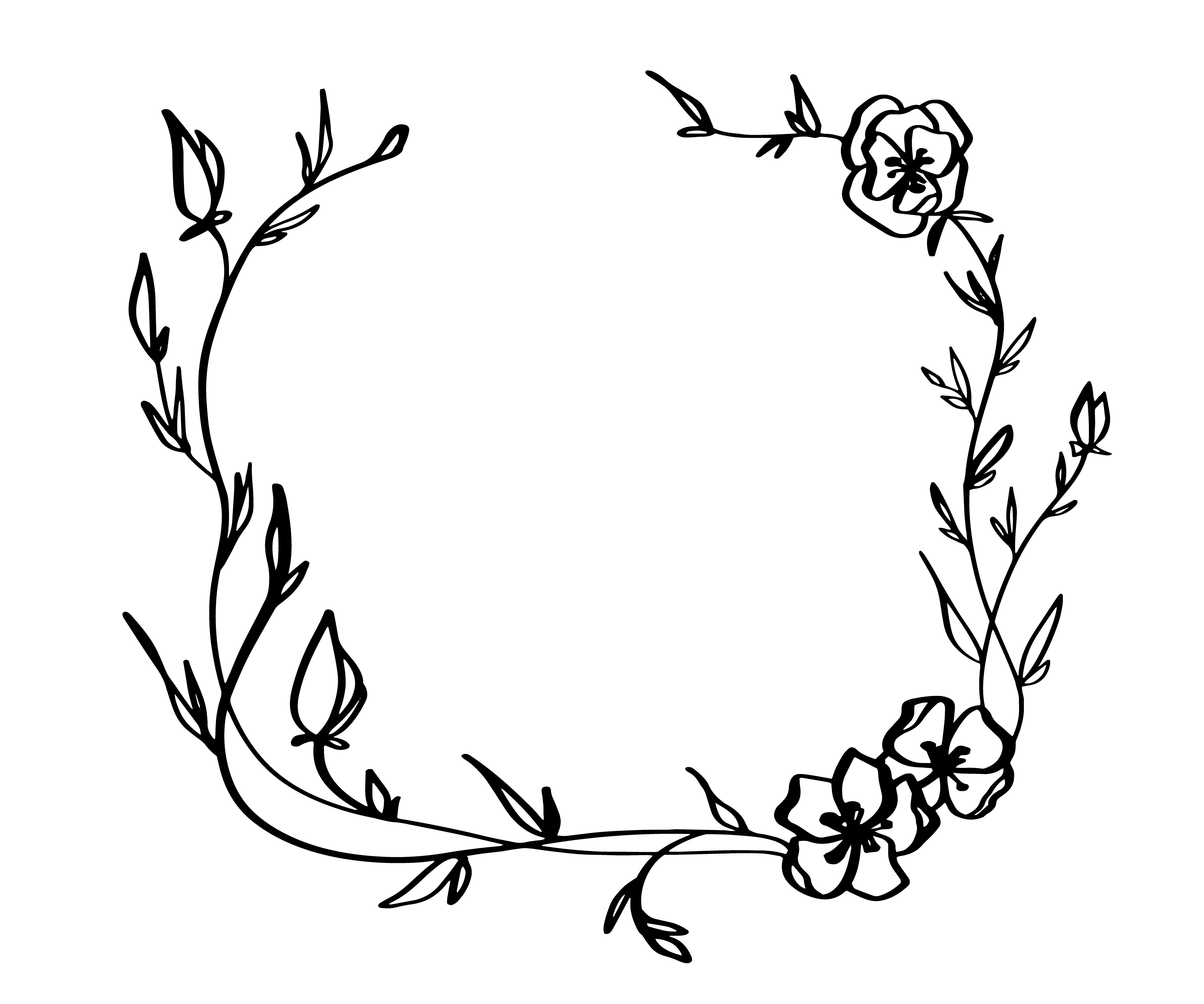 Lavender Flowers Decorative Wreath Isolated On White
