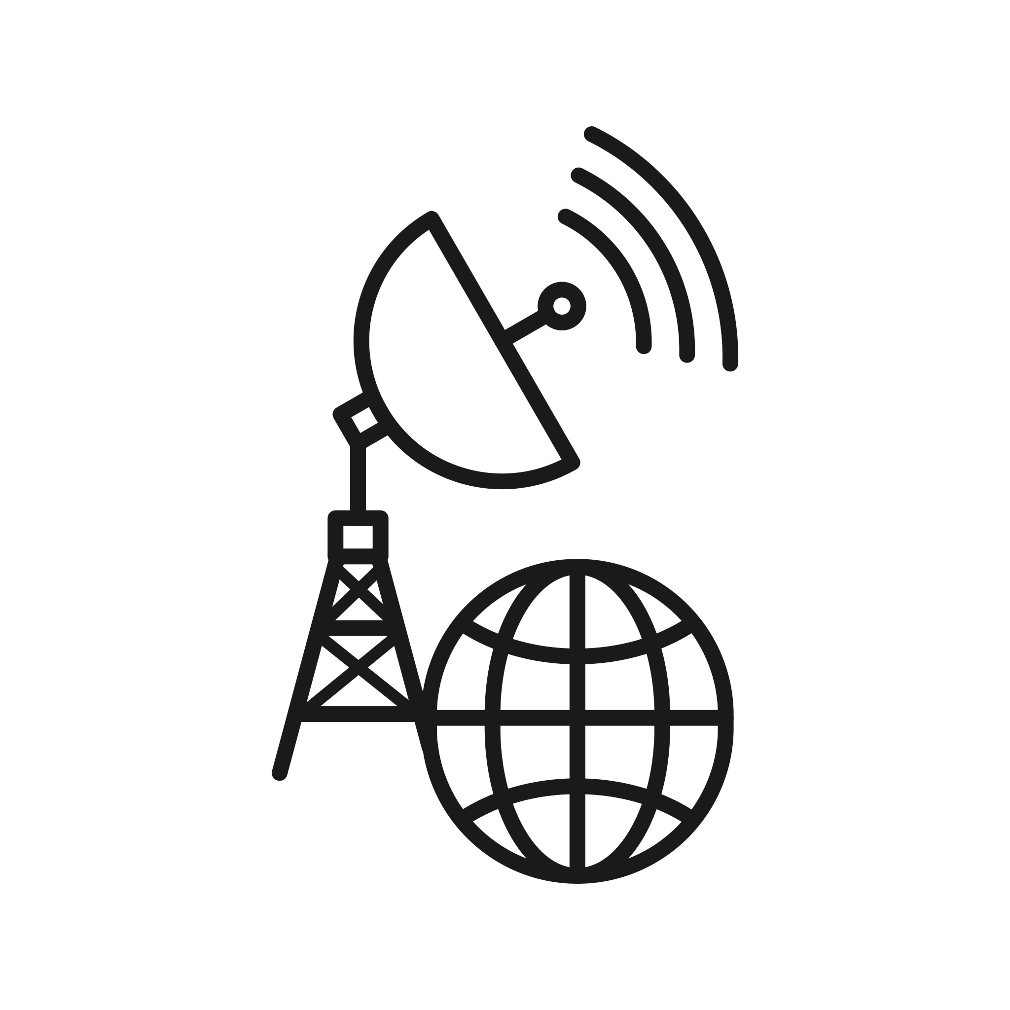 Global Connection Seo Line Icons