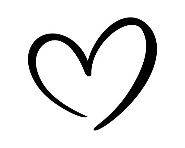 Download Calligraphic love heart sign - Download Free Vectors ...