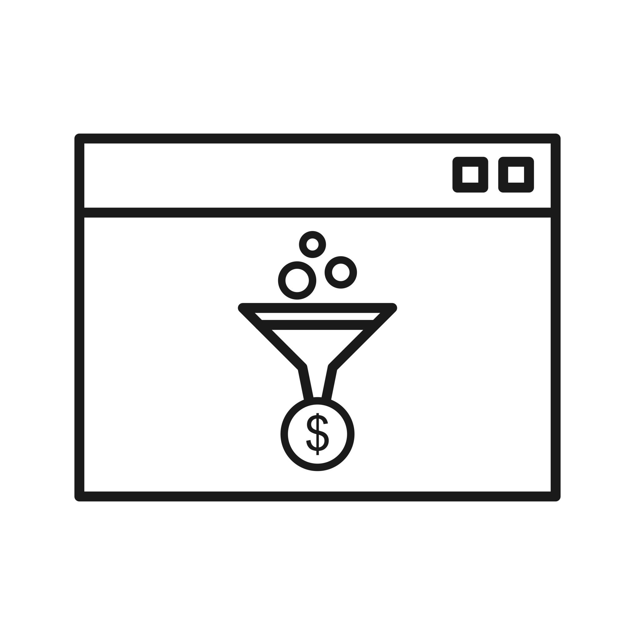 Web Conversion Seo Line Icon