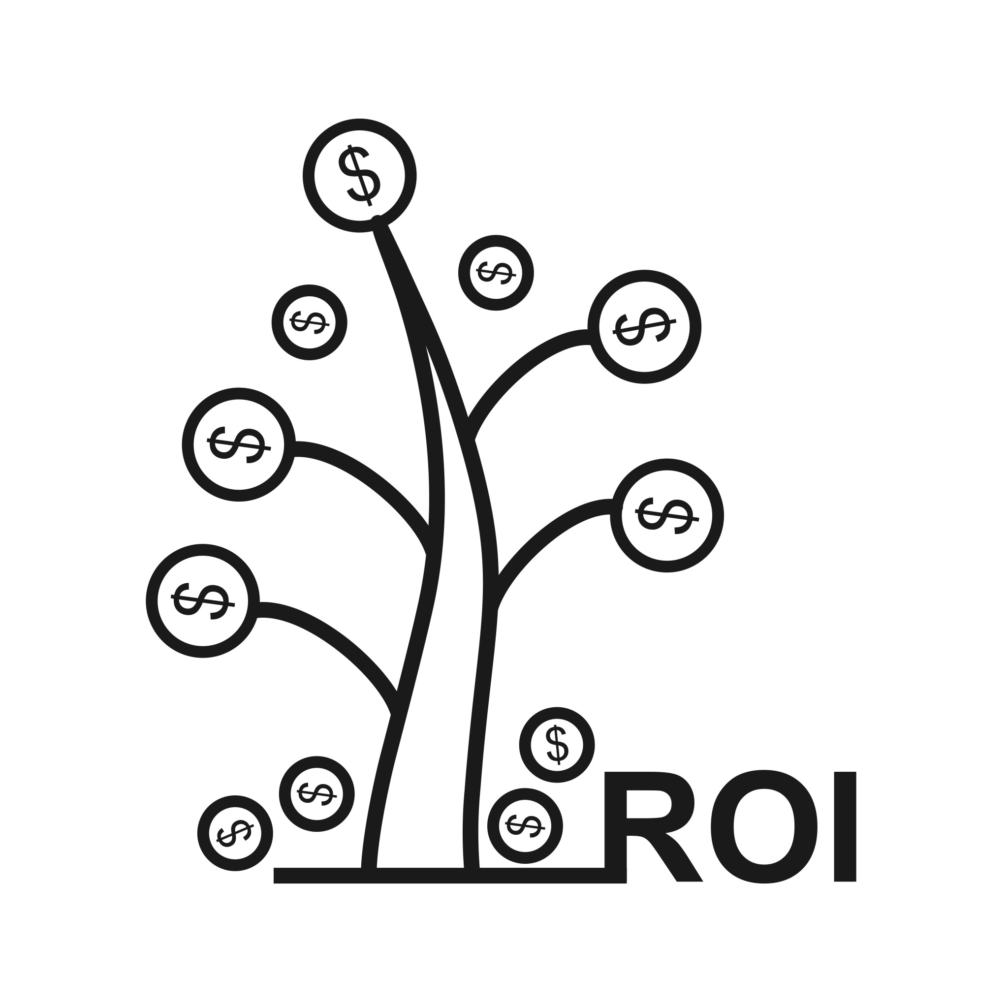Return On Investment Seo Line Icon