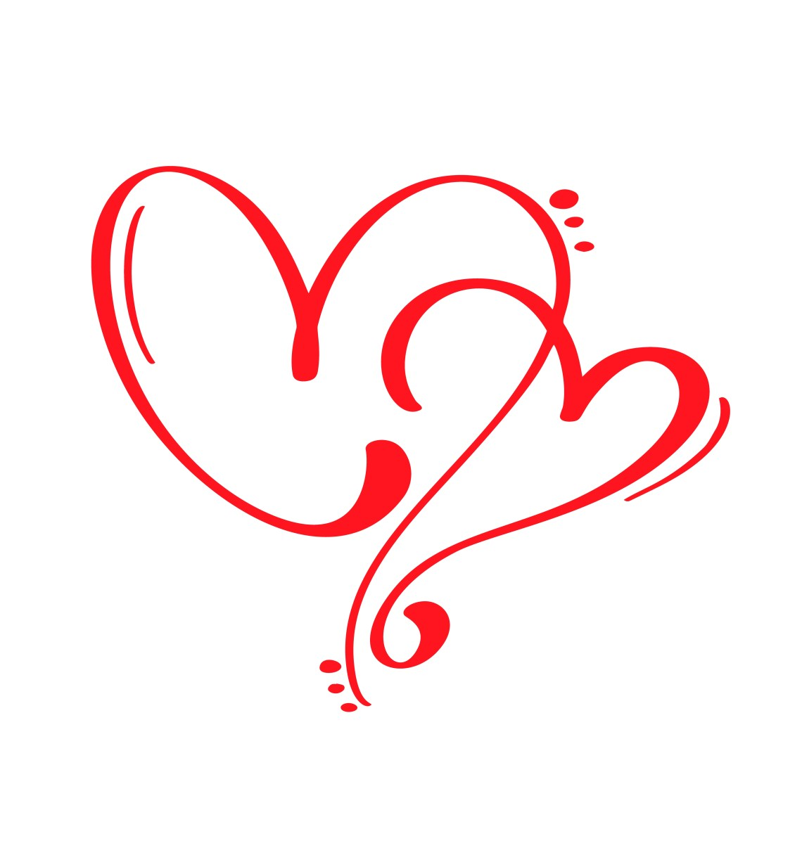 Download Couple Red Vector Valentines Day Hand Drawn Calligraphic ...