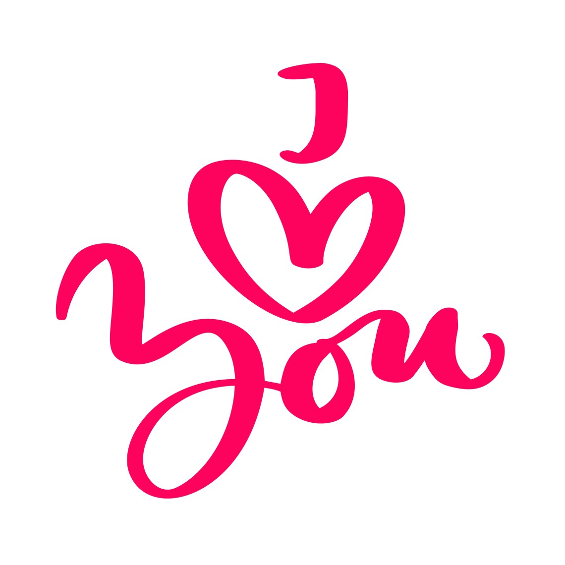 Download Calligraphy phrase I Love You. Vector Valentines Day Hand ...