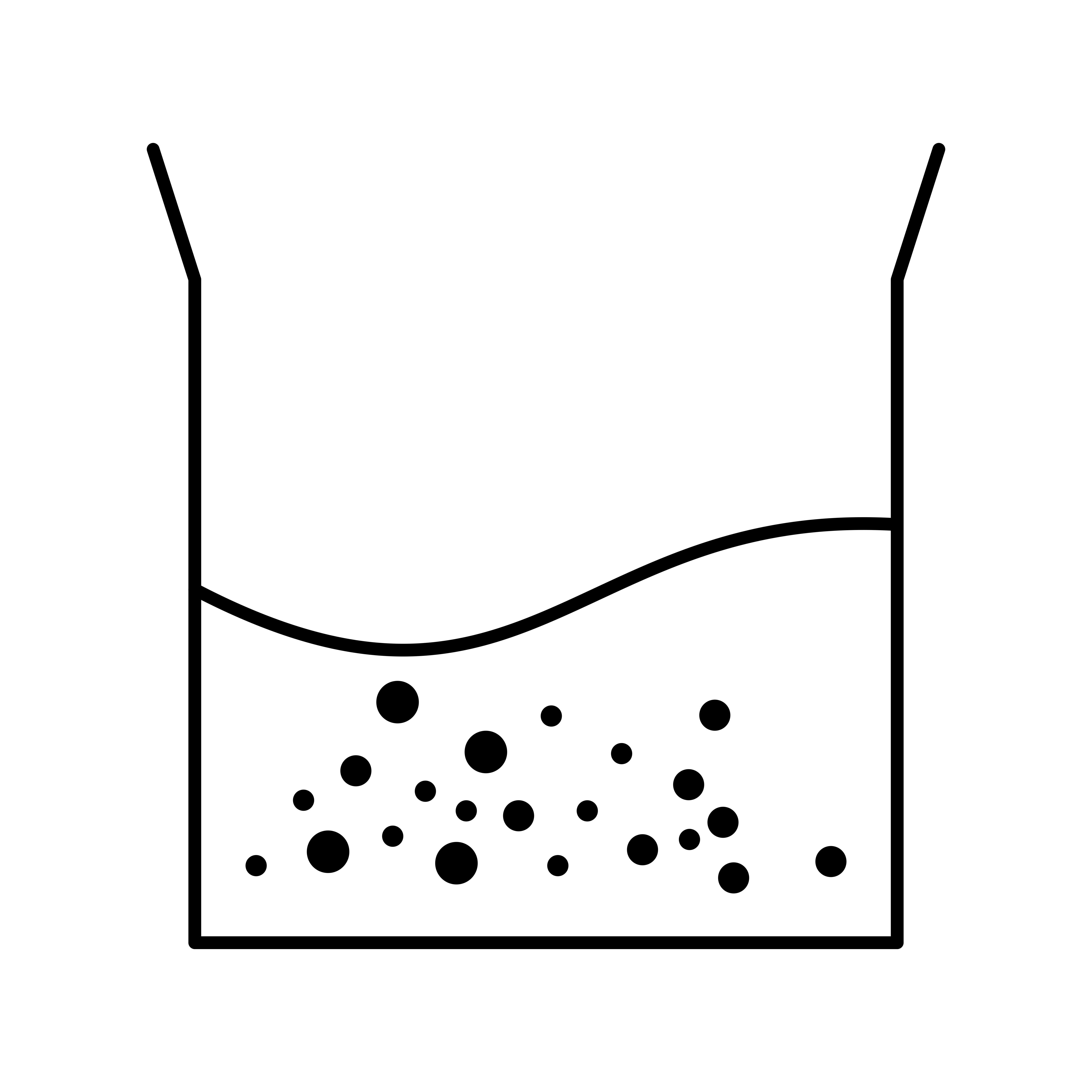 Beaker Half Fill Vector Icon