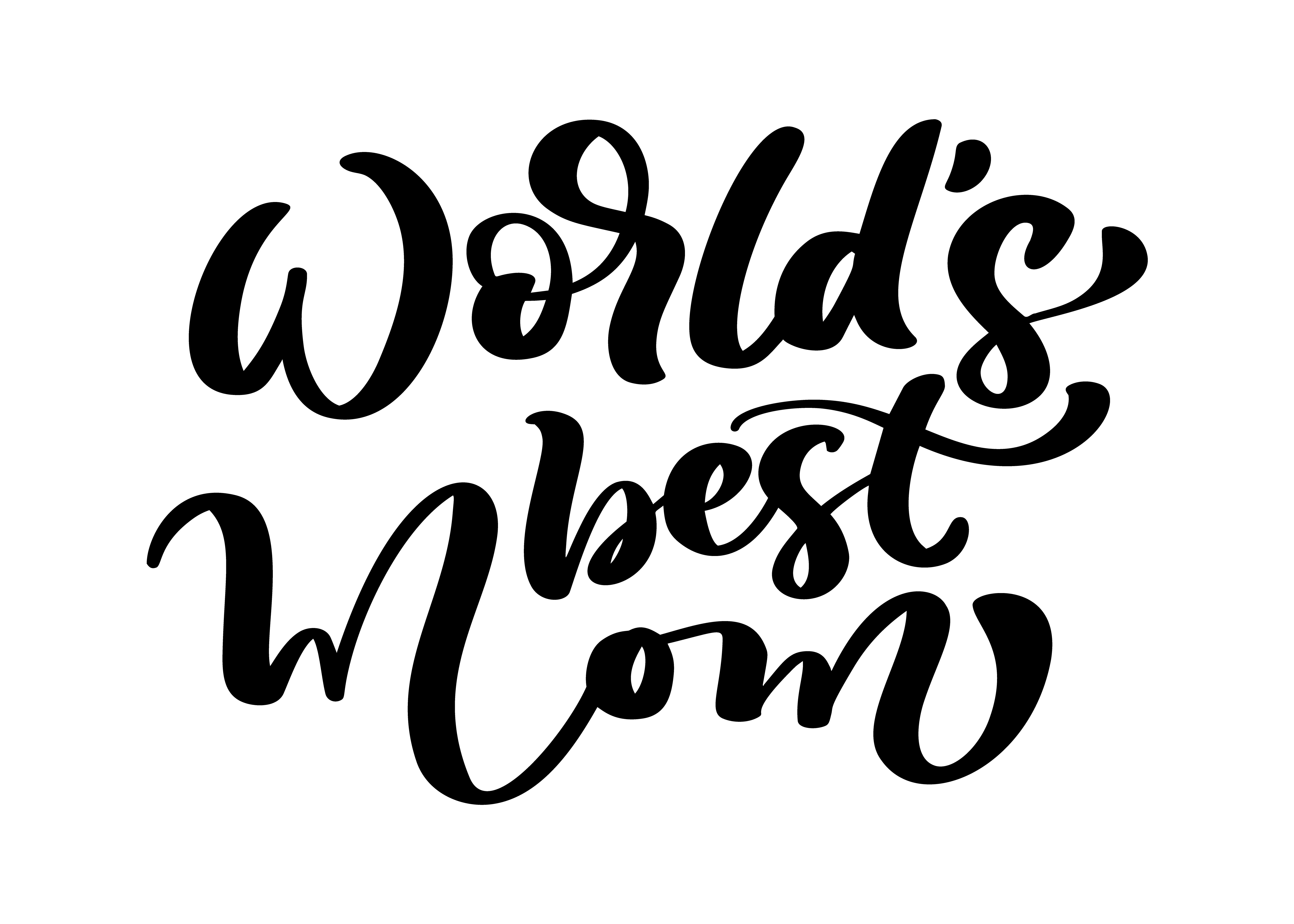 Vector Hand Drawn Calligraphy Lettering Text World S Best