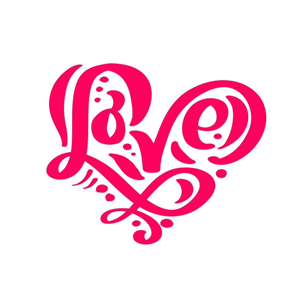 Download Calligraphy word Love. Vector Valentines Day Hand Drawn ...