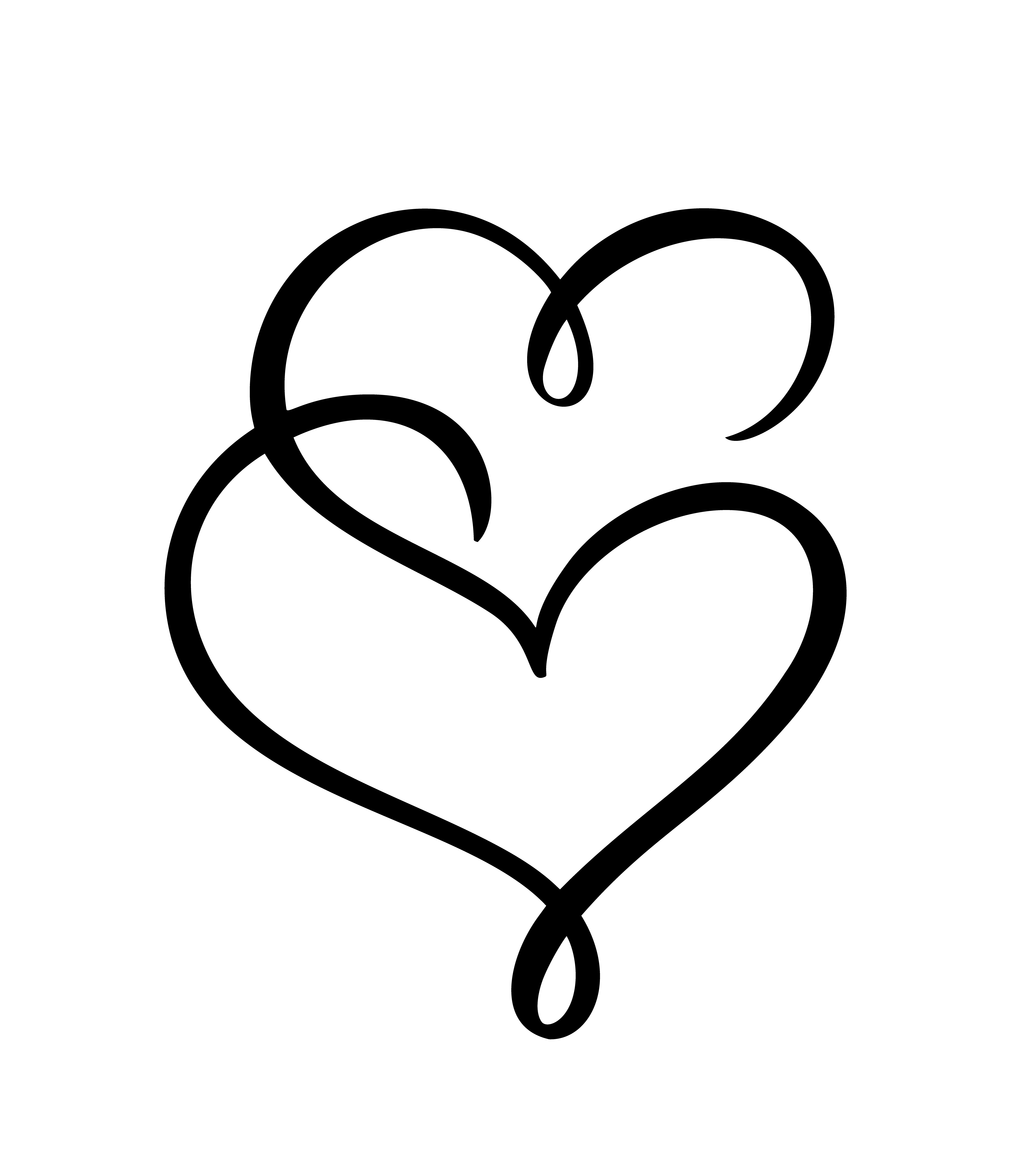 Two Love Heart Signs Romantic Vector Illustration