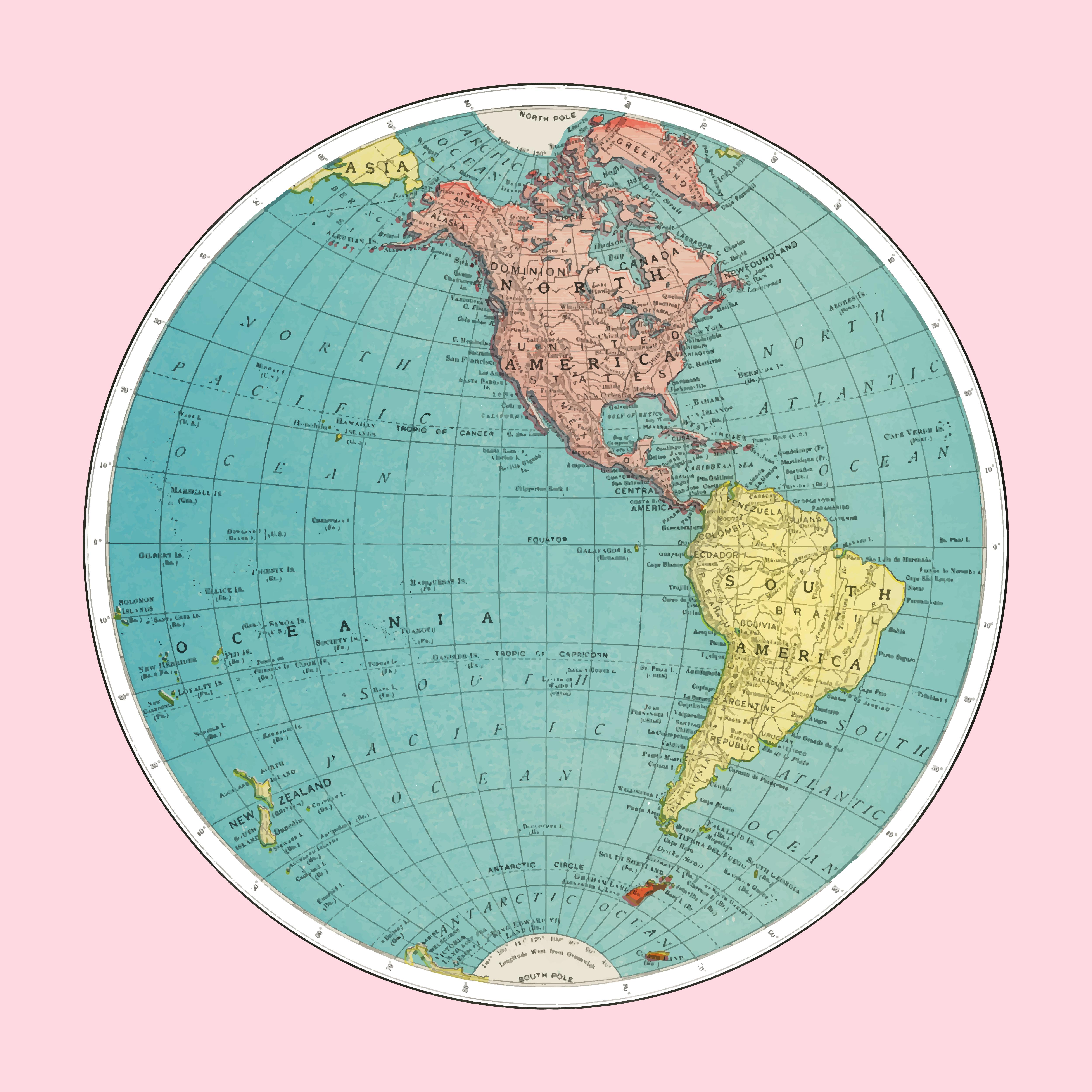 Western Hemisphere World Atlas By Rand Mcnally And Co
