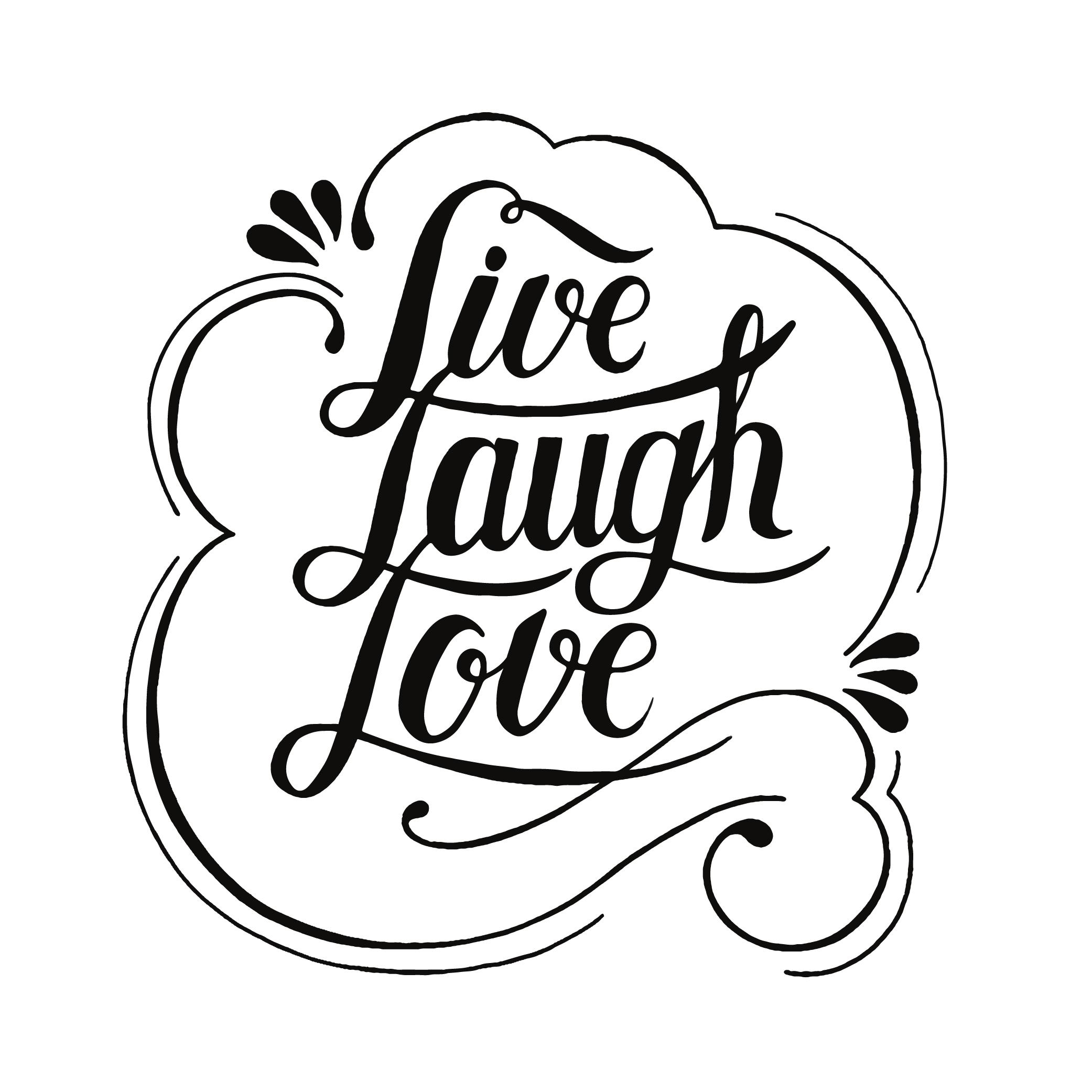 Live Laugh Love Typography Design