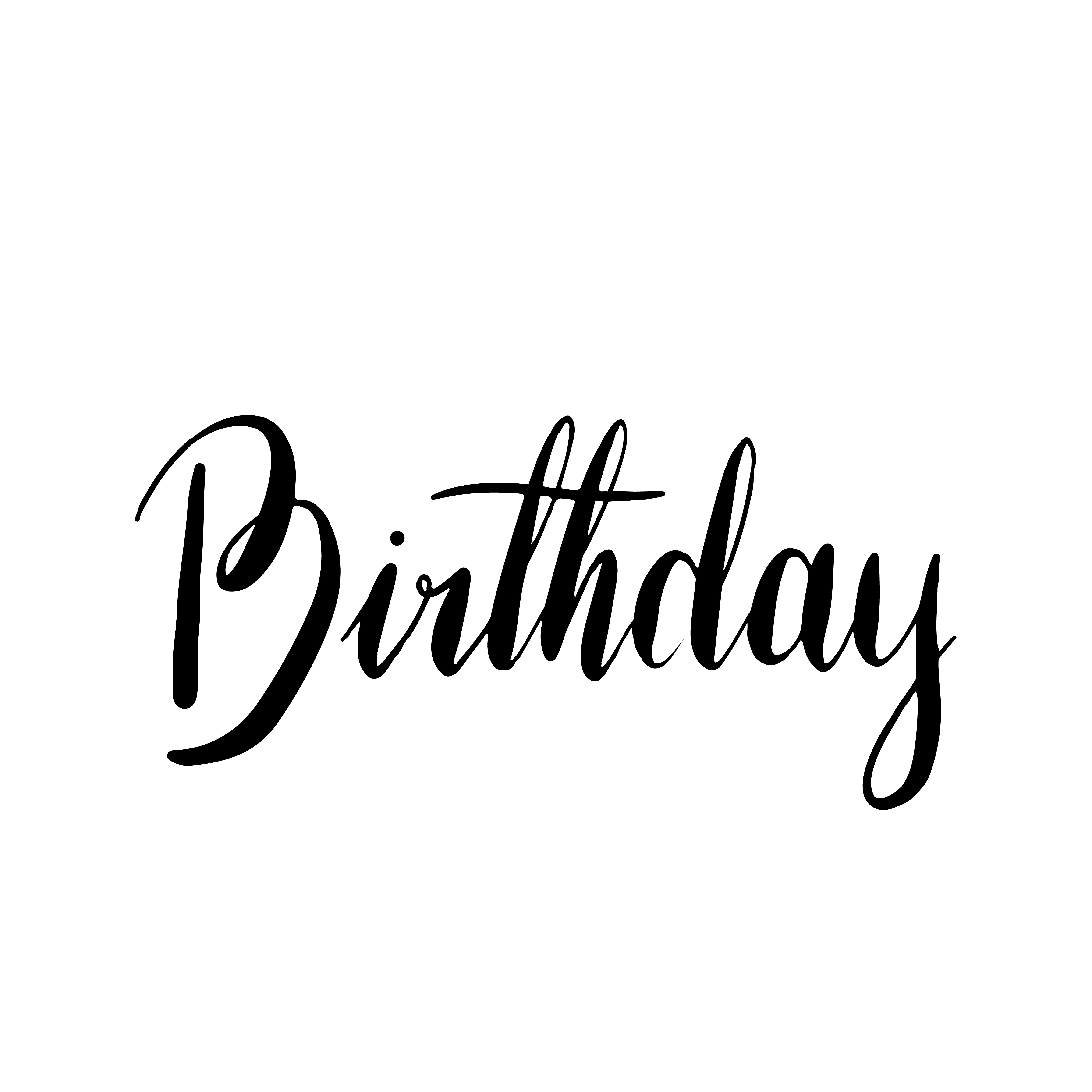 Happy Birthday Typography Style Vector