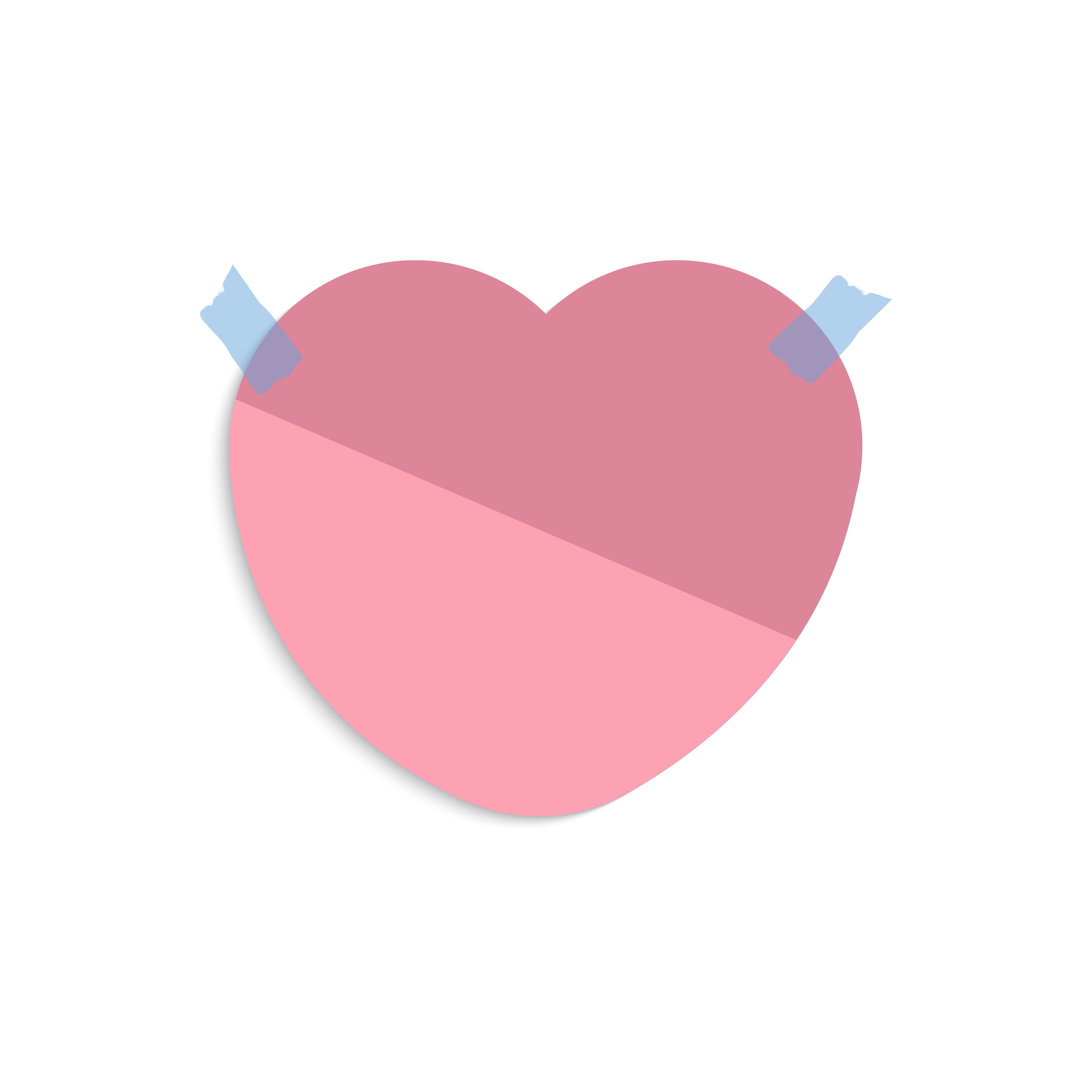 Blank Heart Shaped Reminder Note Vector