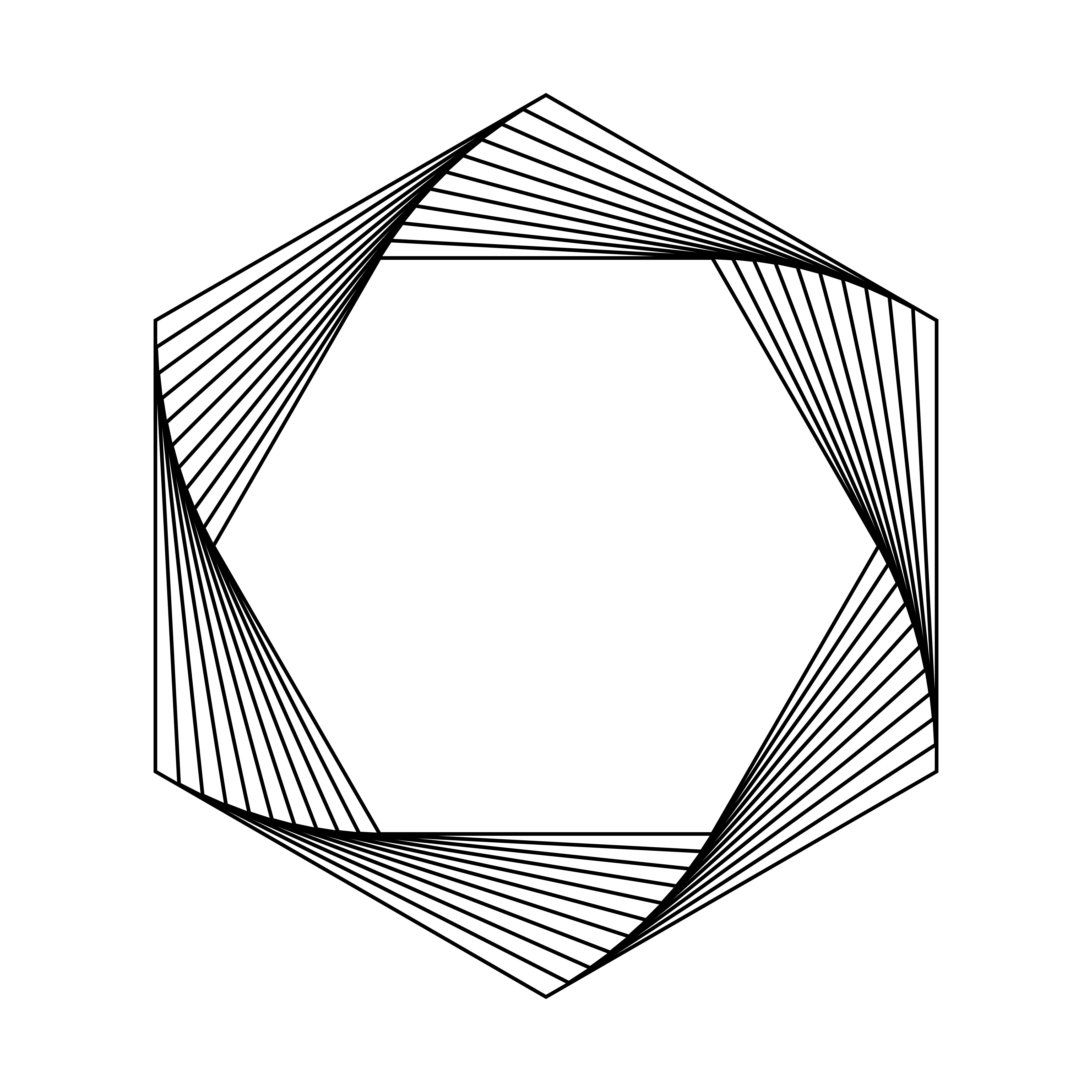 Abstract Hexagon Geometric Element Vector