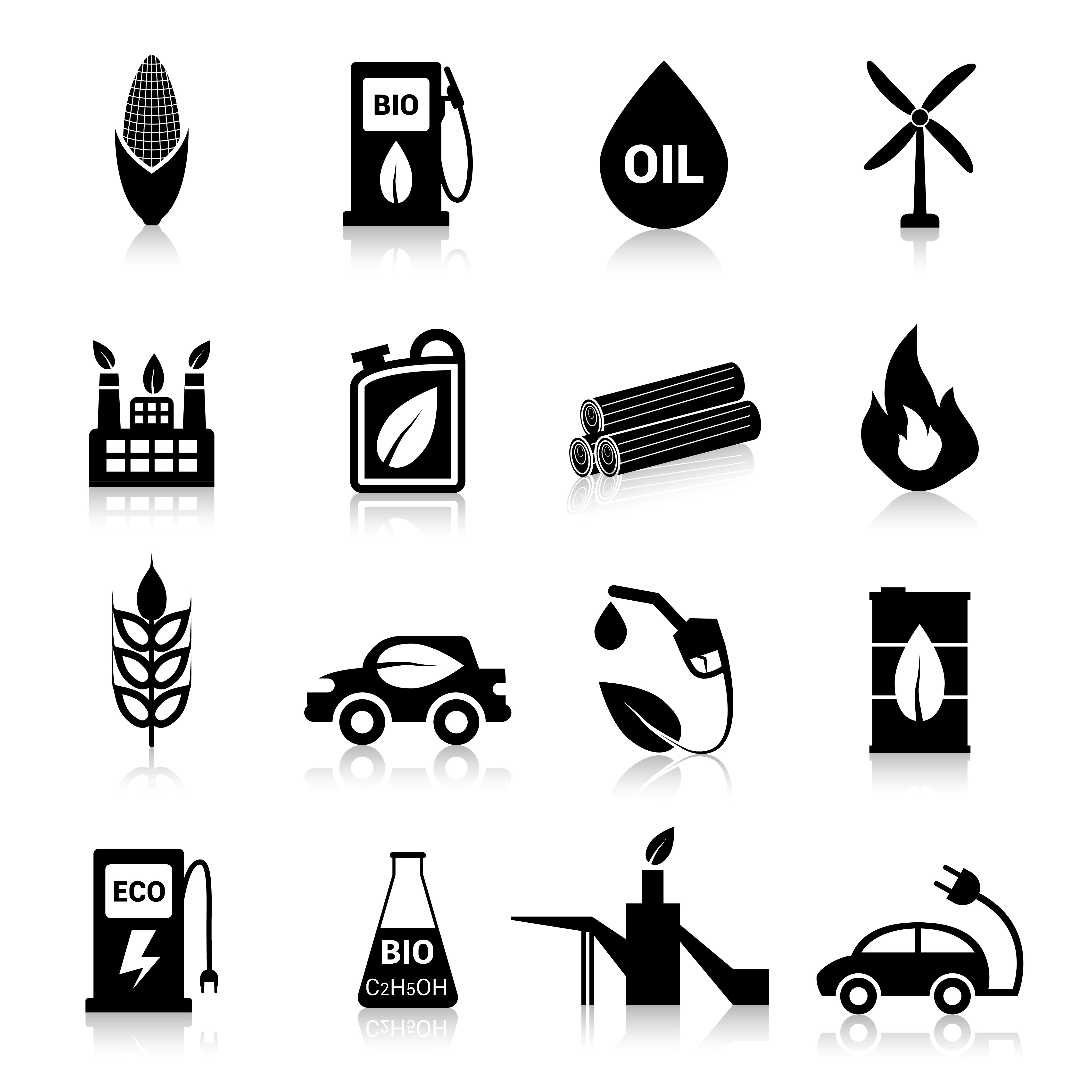 Bio Fuel Icons Black