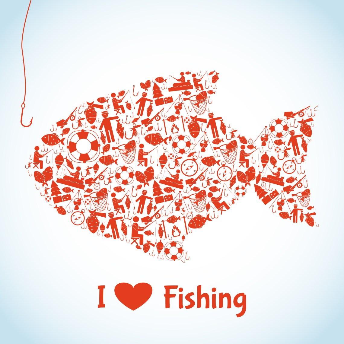 Download Love Fishing Concept - Download Free Vectors, Clipart ...