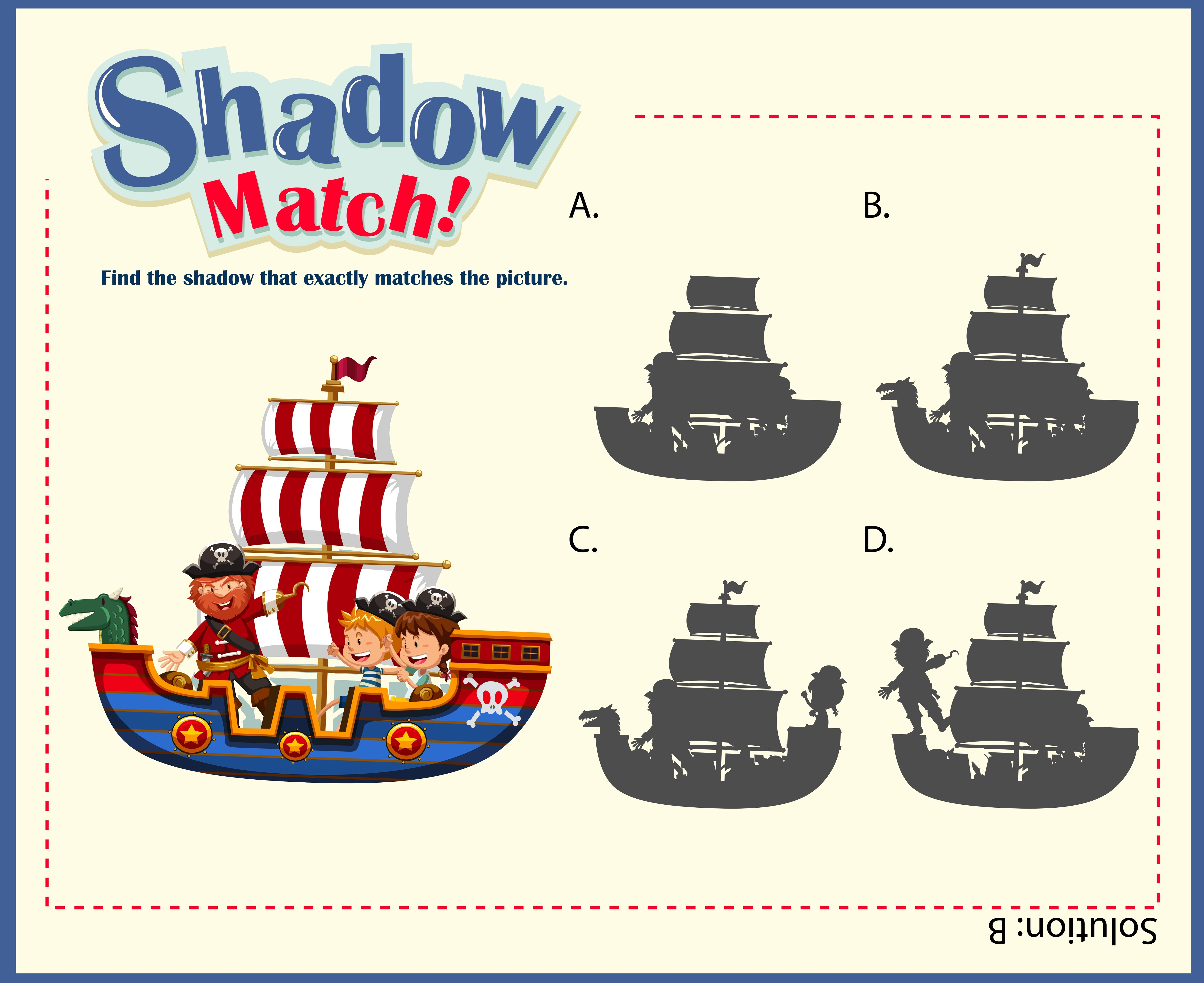 Game Template With Shadow Matching Ships