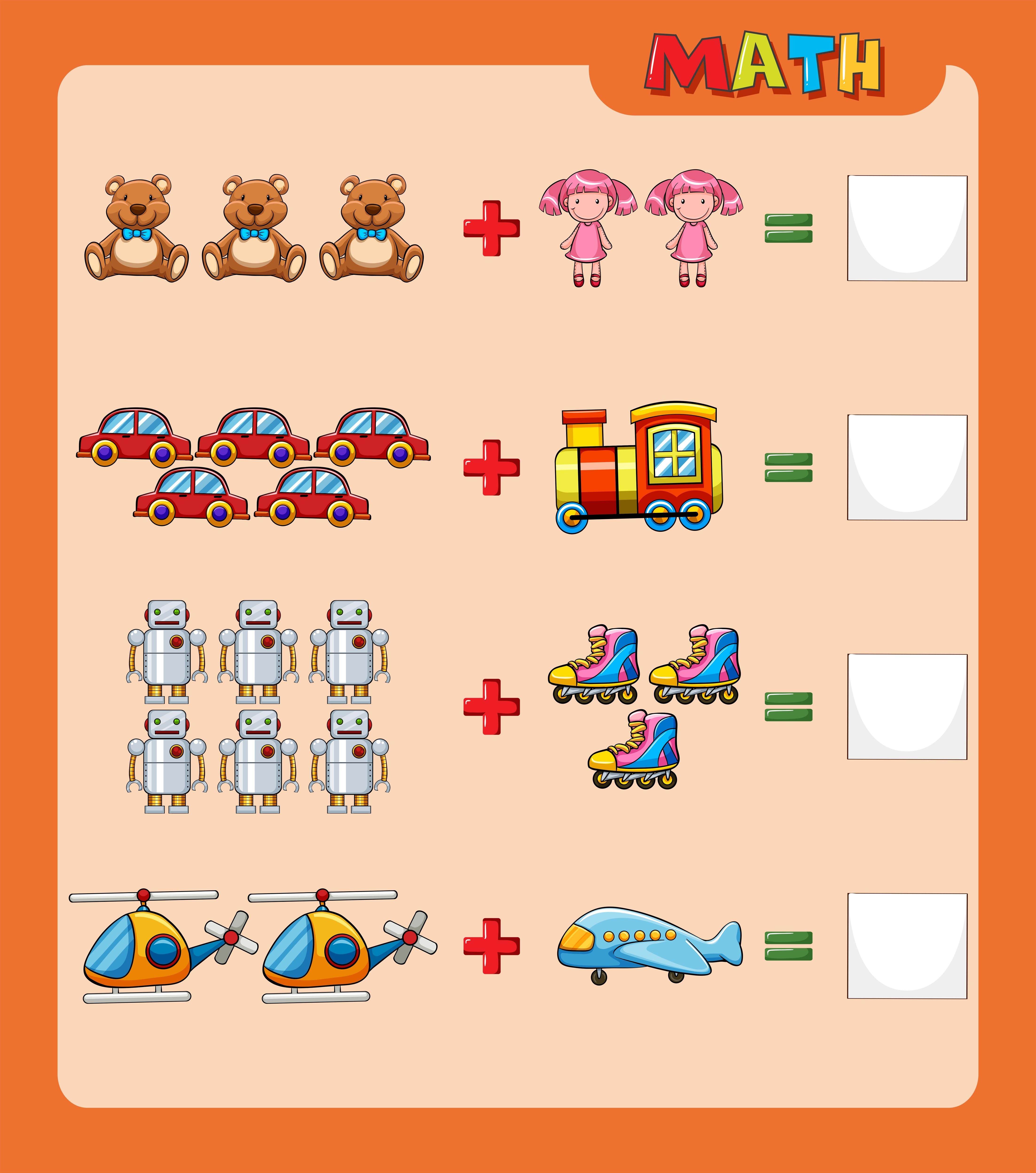 Worksheet Template For Adding With Pictures